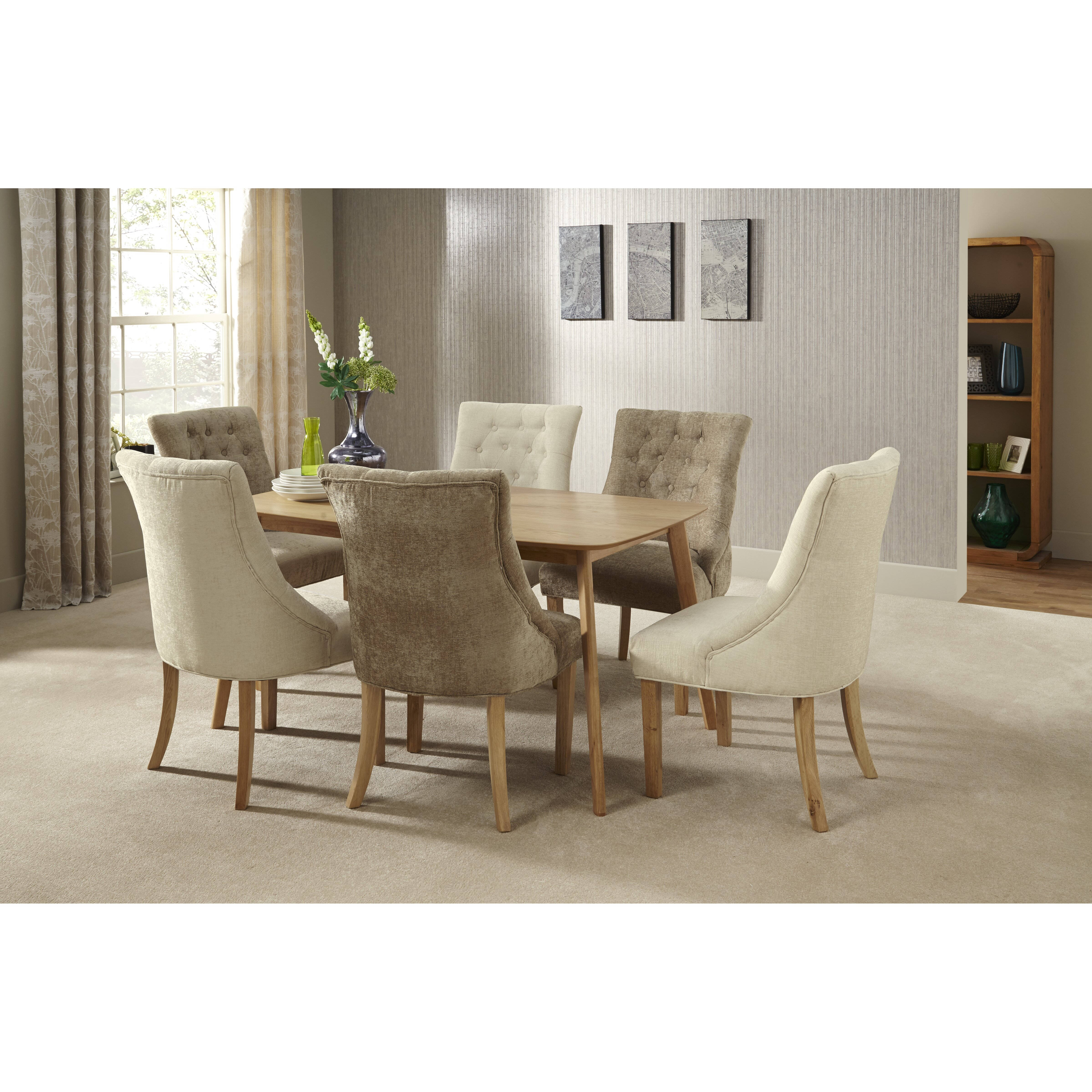 Home Haus Bornholm Extendable Dining Table And 6 Chairs Reviews Wayfair Uk