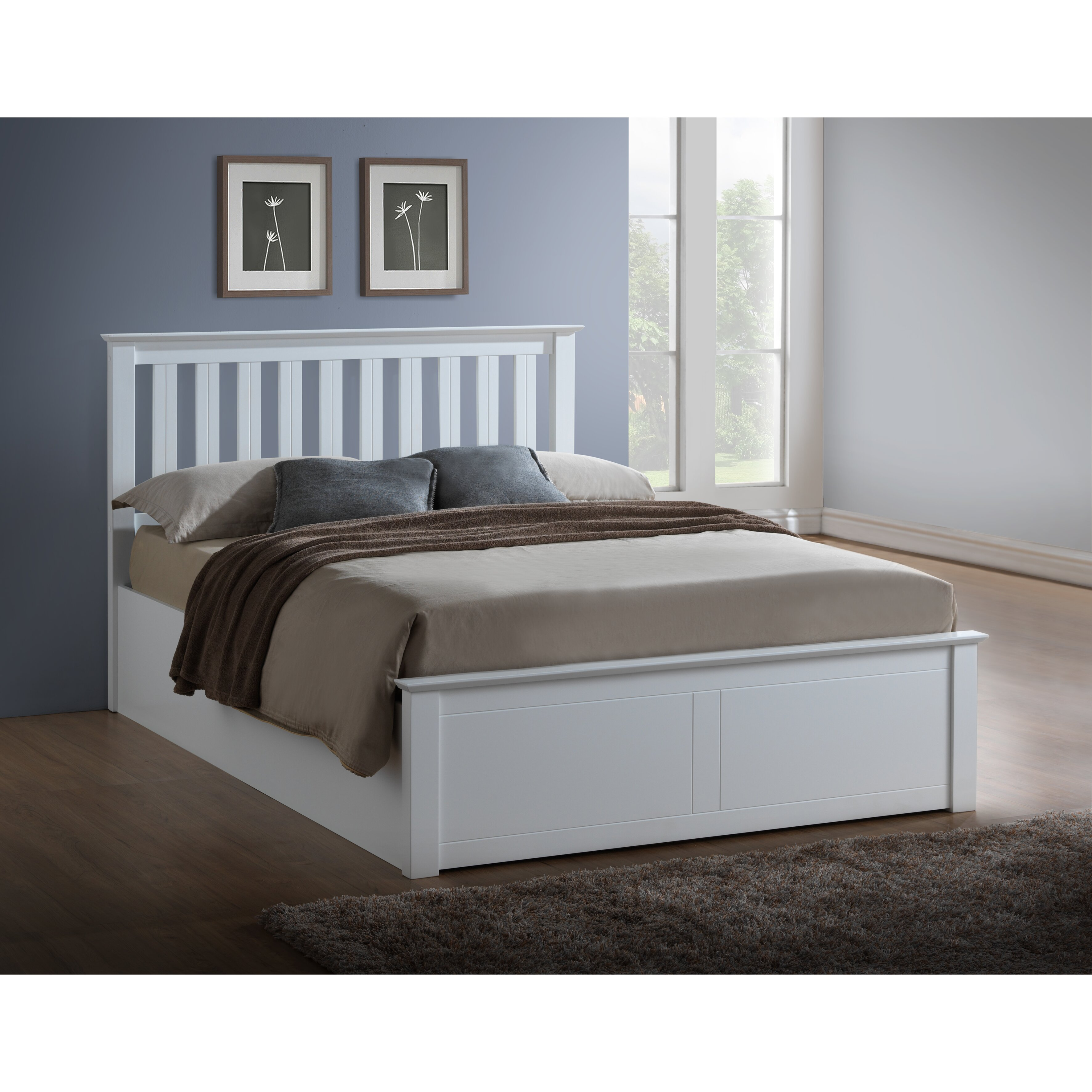 Ottoman In Bedroom Home Haus Arizona Ottoman Bed Reviews Wayfaircouk