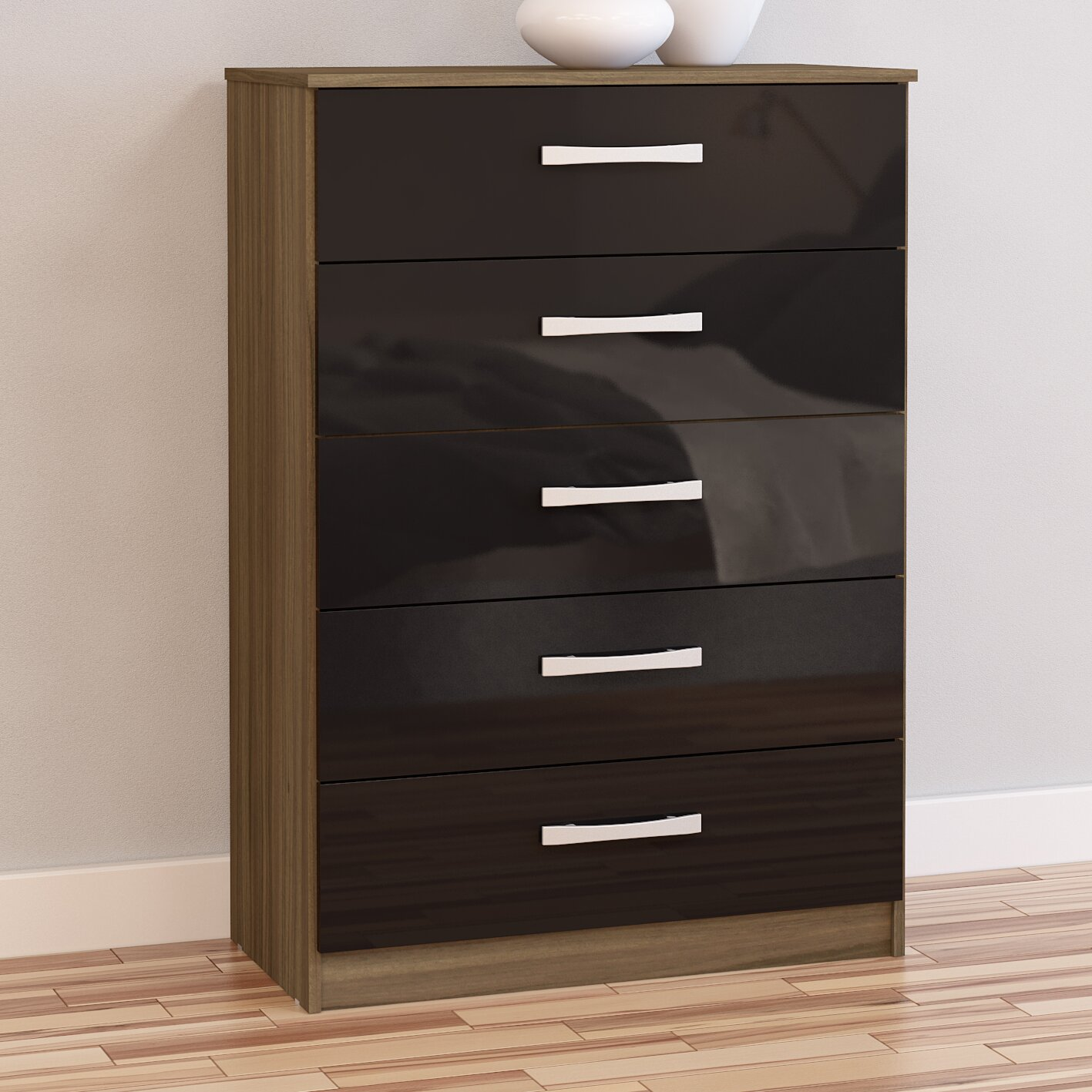 home haus lincoln 5 drawer chest of drawers reviews. Black Bedroom Furniture Sets. Home Design Ideas