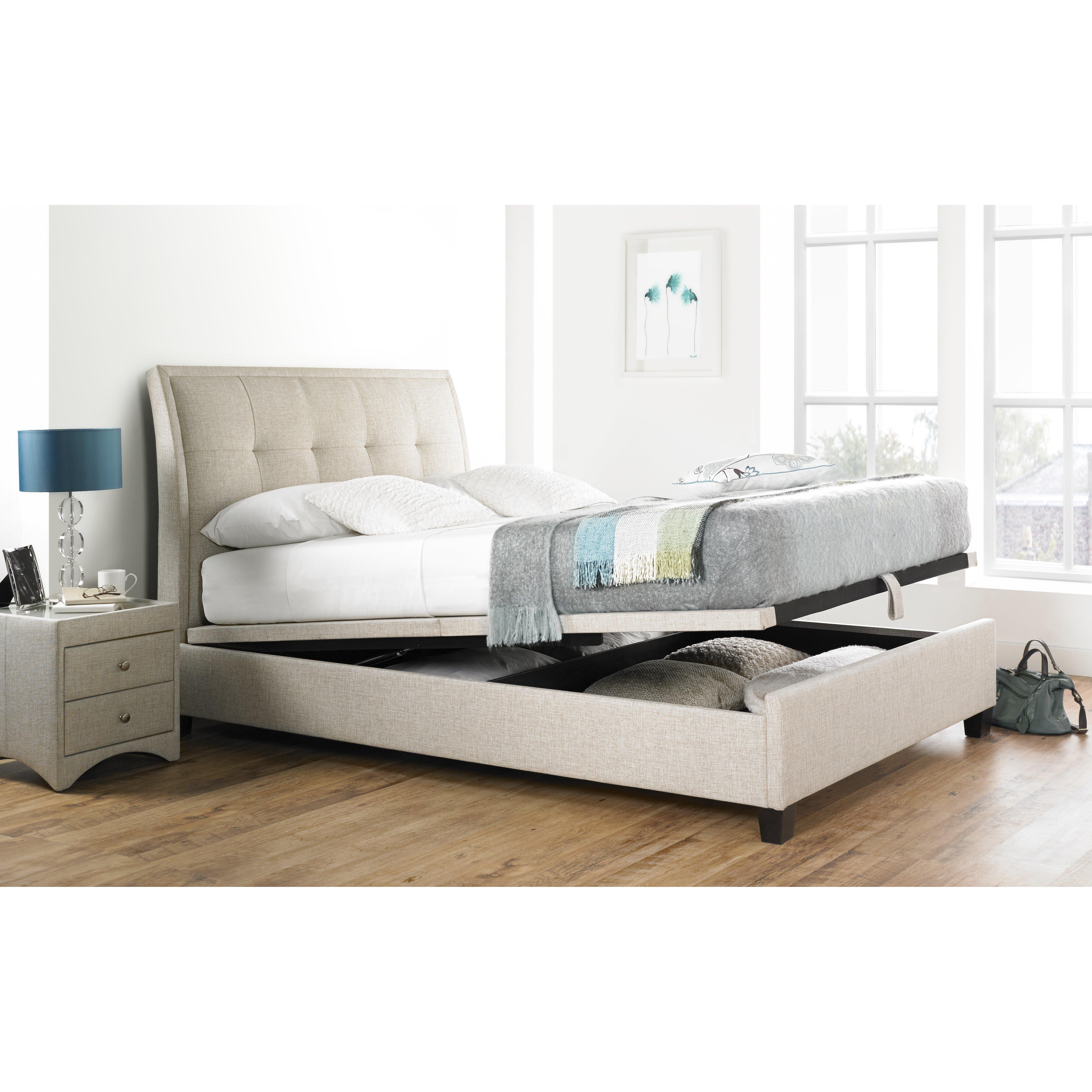Ottoman For Bedroom Home Haus Koroit Upholstered Ottoman Bed Frame Reviews