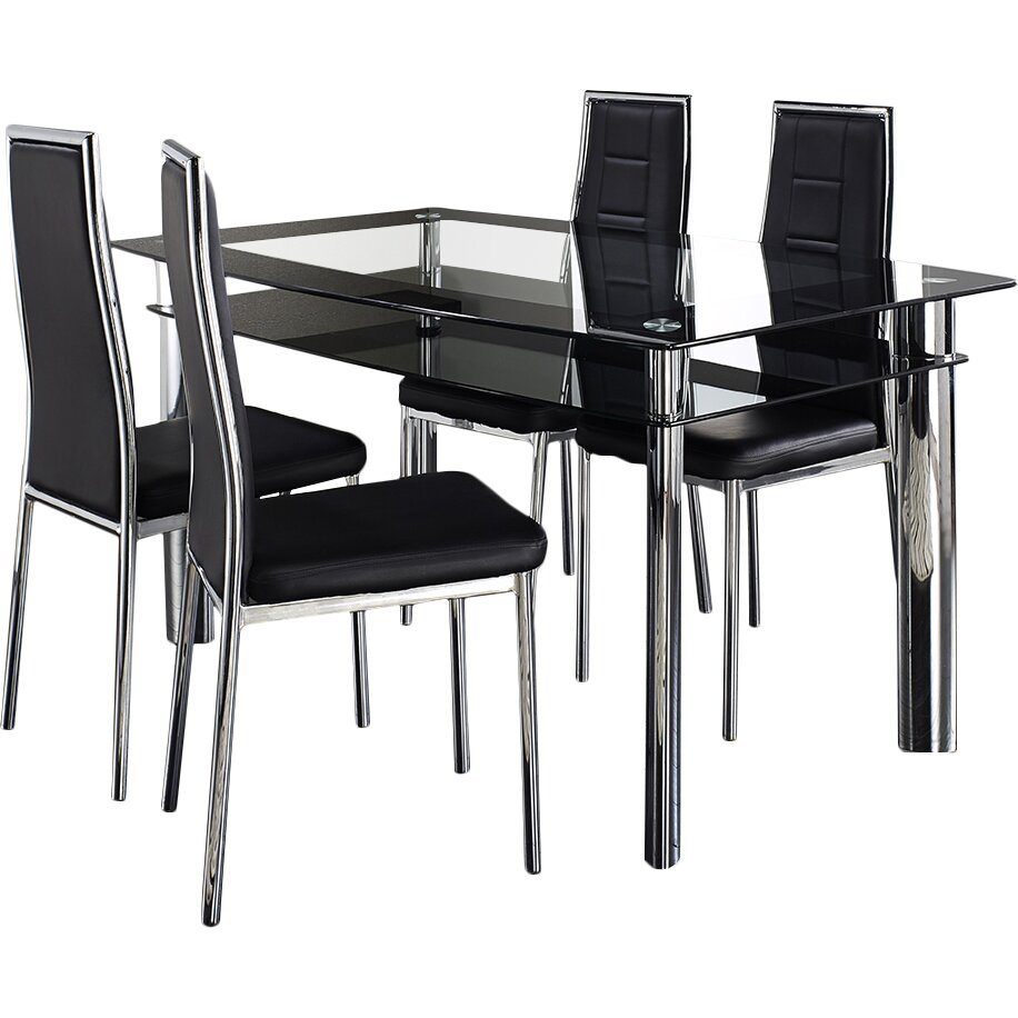 Home Haus Ingham Dining Table And 4 Chairs