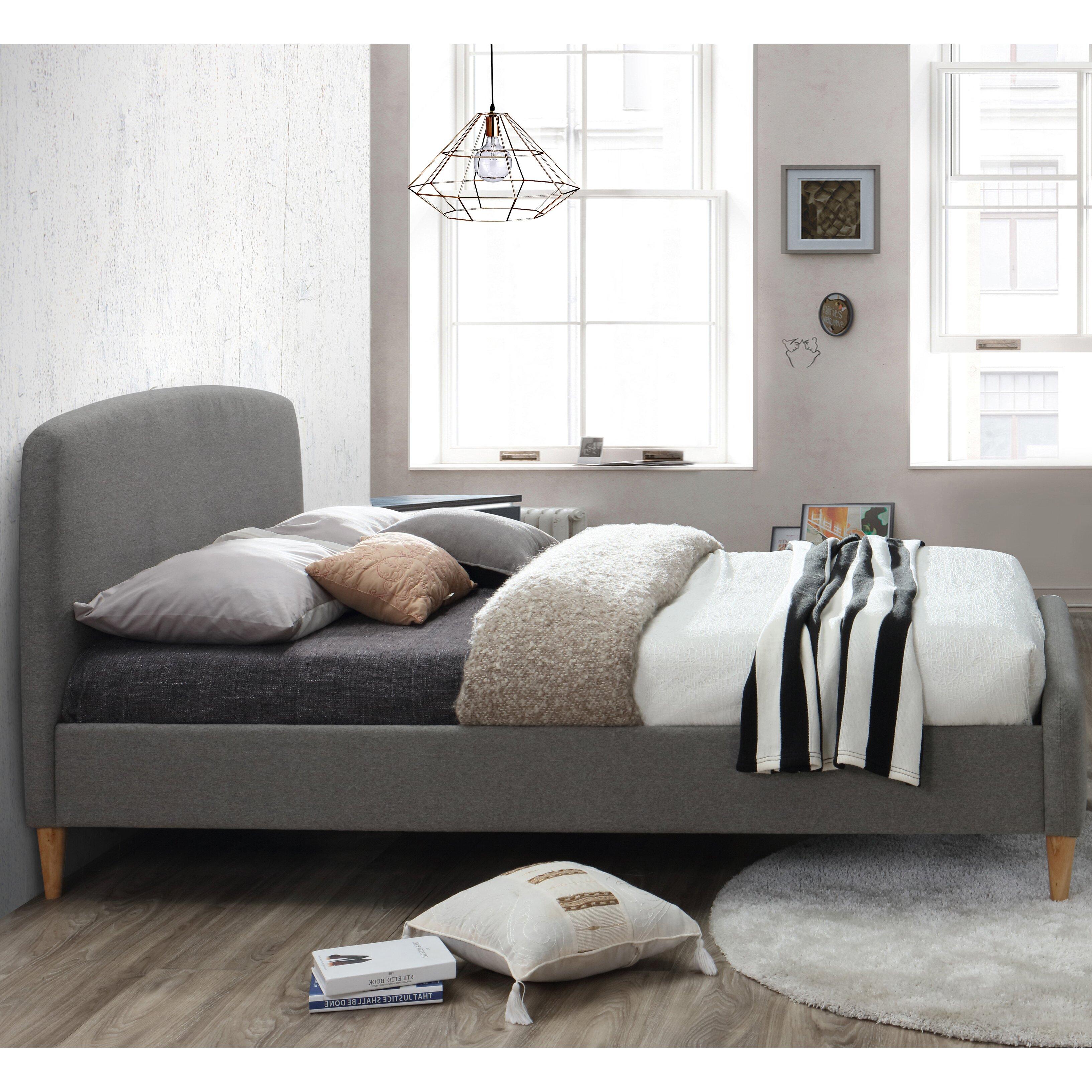 Quebec Bedroom Furniture Home Haus Quebec Upholstered Bed Frame Reviews Wayfaircouk