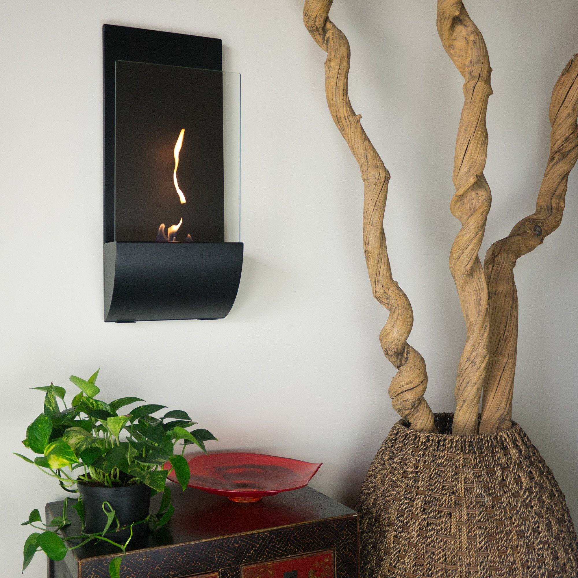 Natural gas wall mount fireplaces - Torcia Wall Mount Bio Ethanol Fireplace