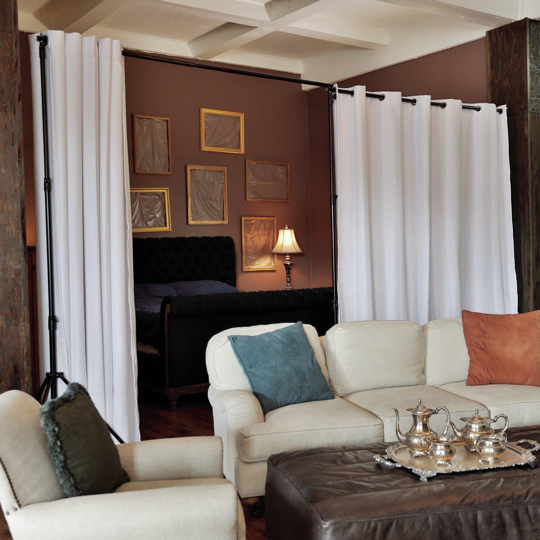 Free standing wall divider - Roomdividersnow Premium Heavyweight Freestanding Room Divider Kit