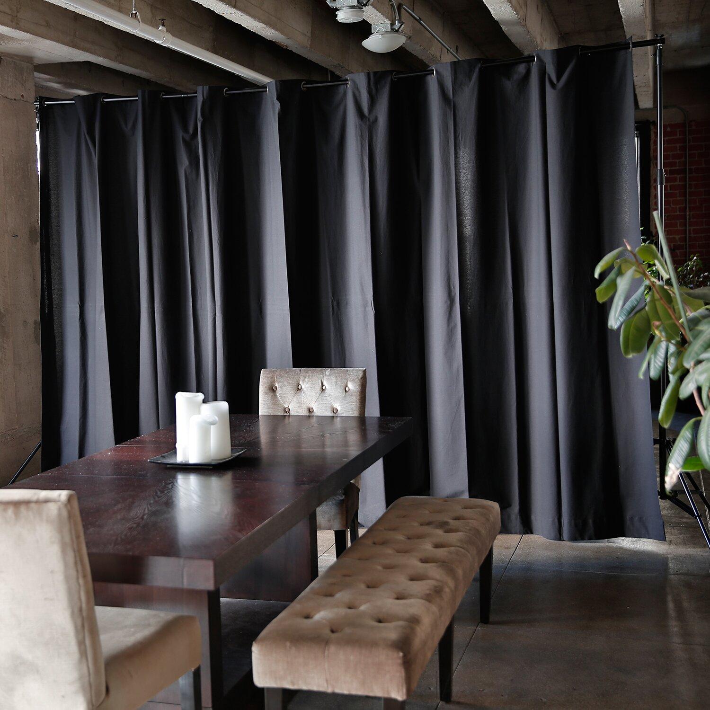 Free standing wall divider - Roomdividersnow Muslin Freestanding Room Divider Kit
