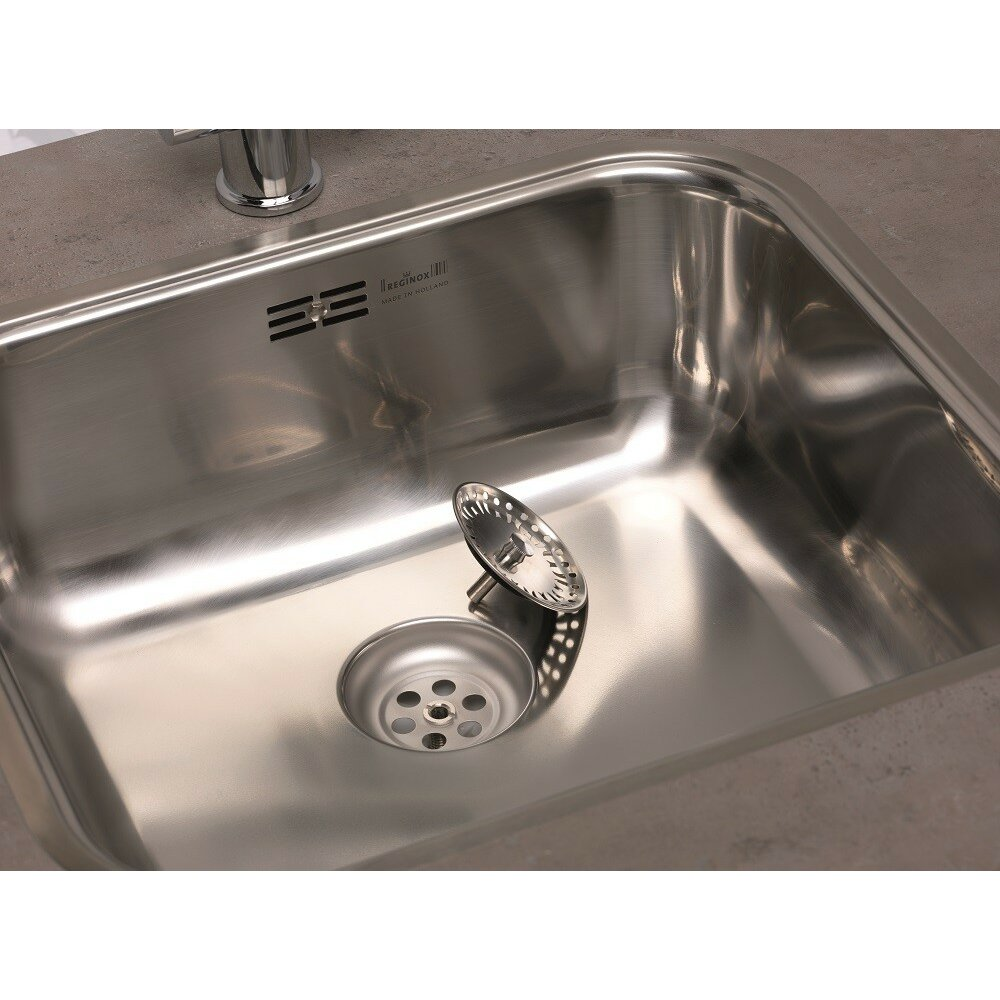 chicago 60cm x 50cm single bowl kitchen sink reviews wayfair uk