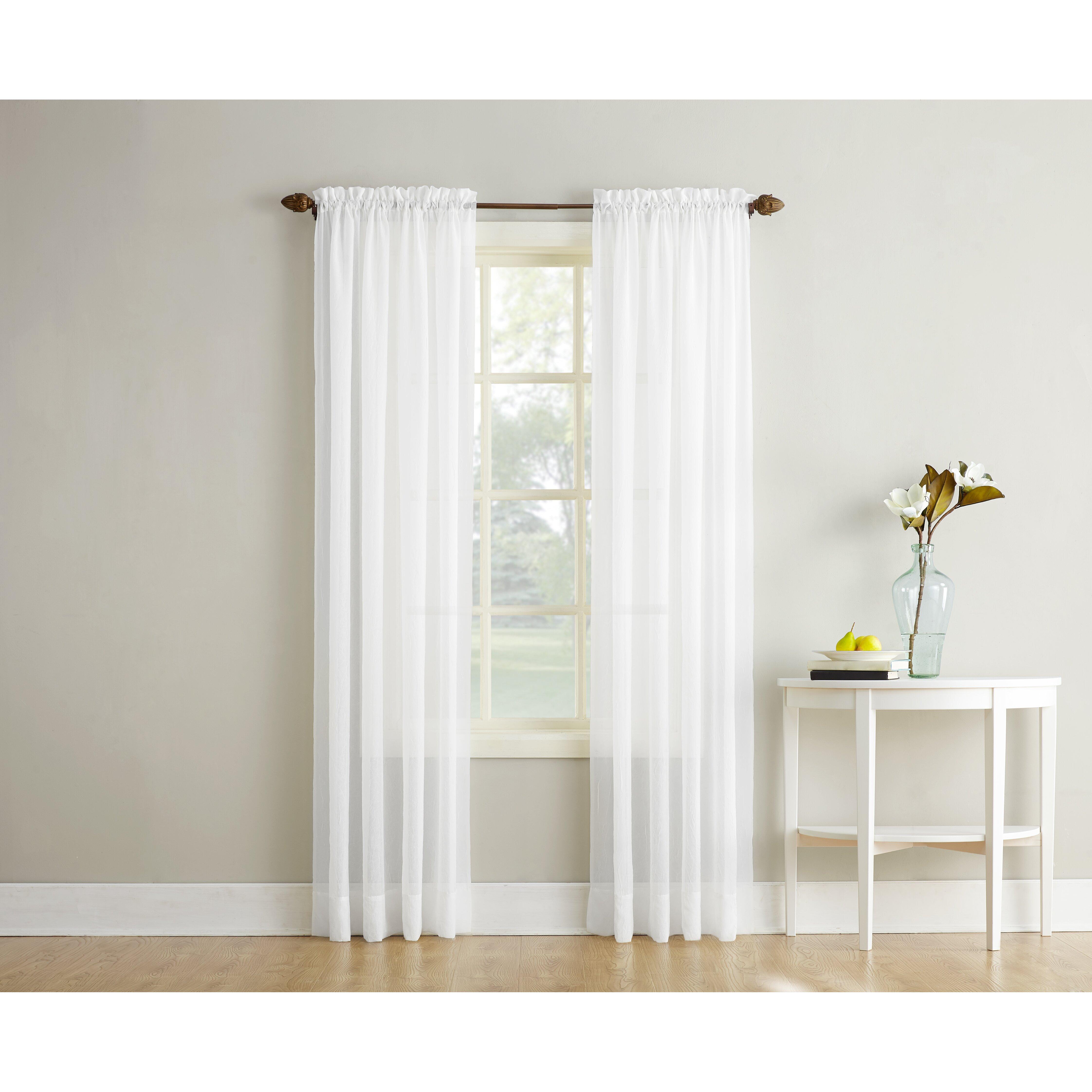 Sheer yellow curtains - Erica Single Curtain Panel