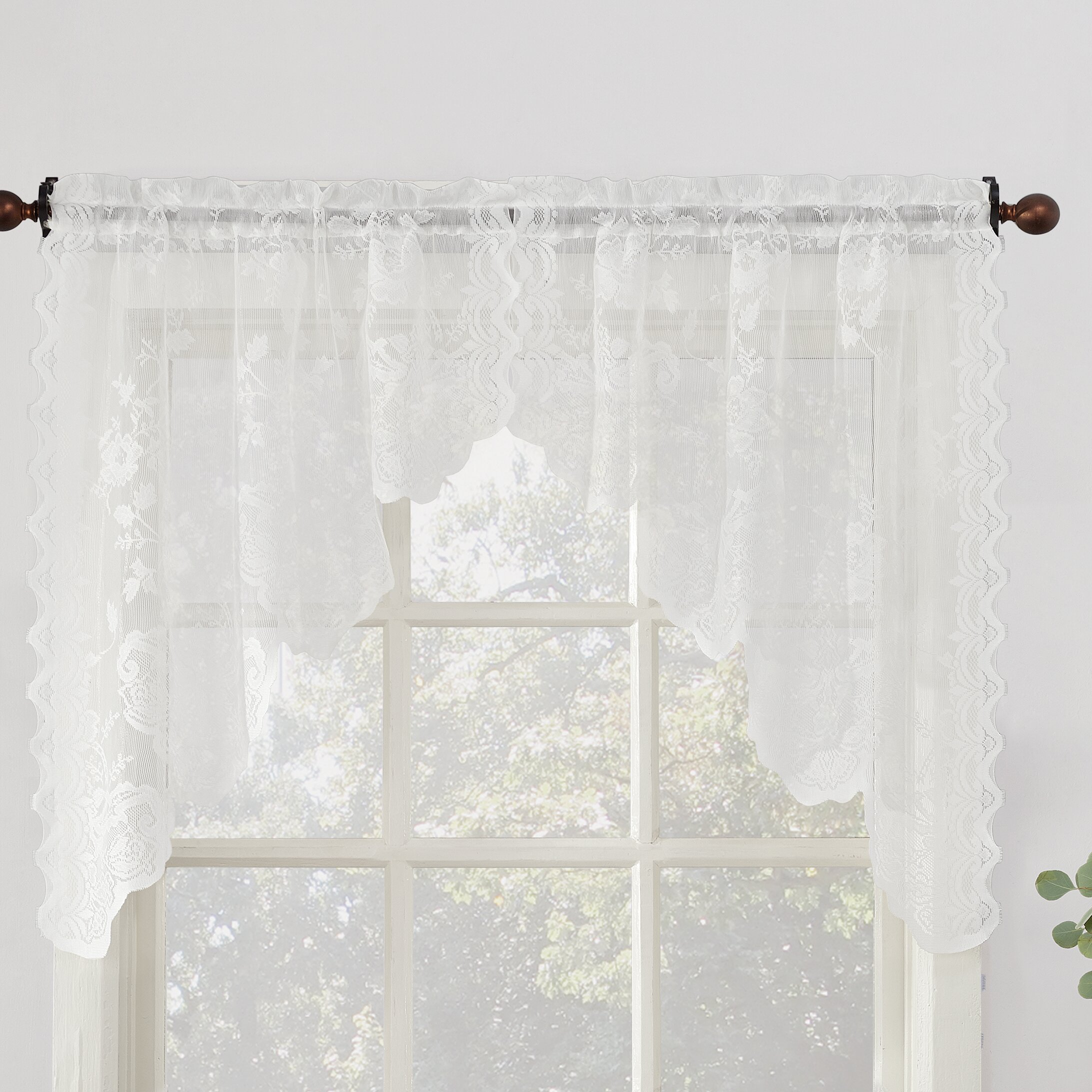 Window Valance For Kitchen No 918 Alison Sheer Lace Swag Pair 58 Kitchen Window Valance