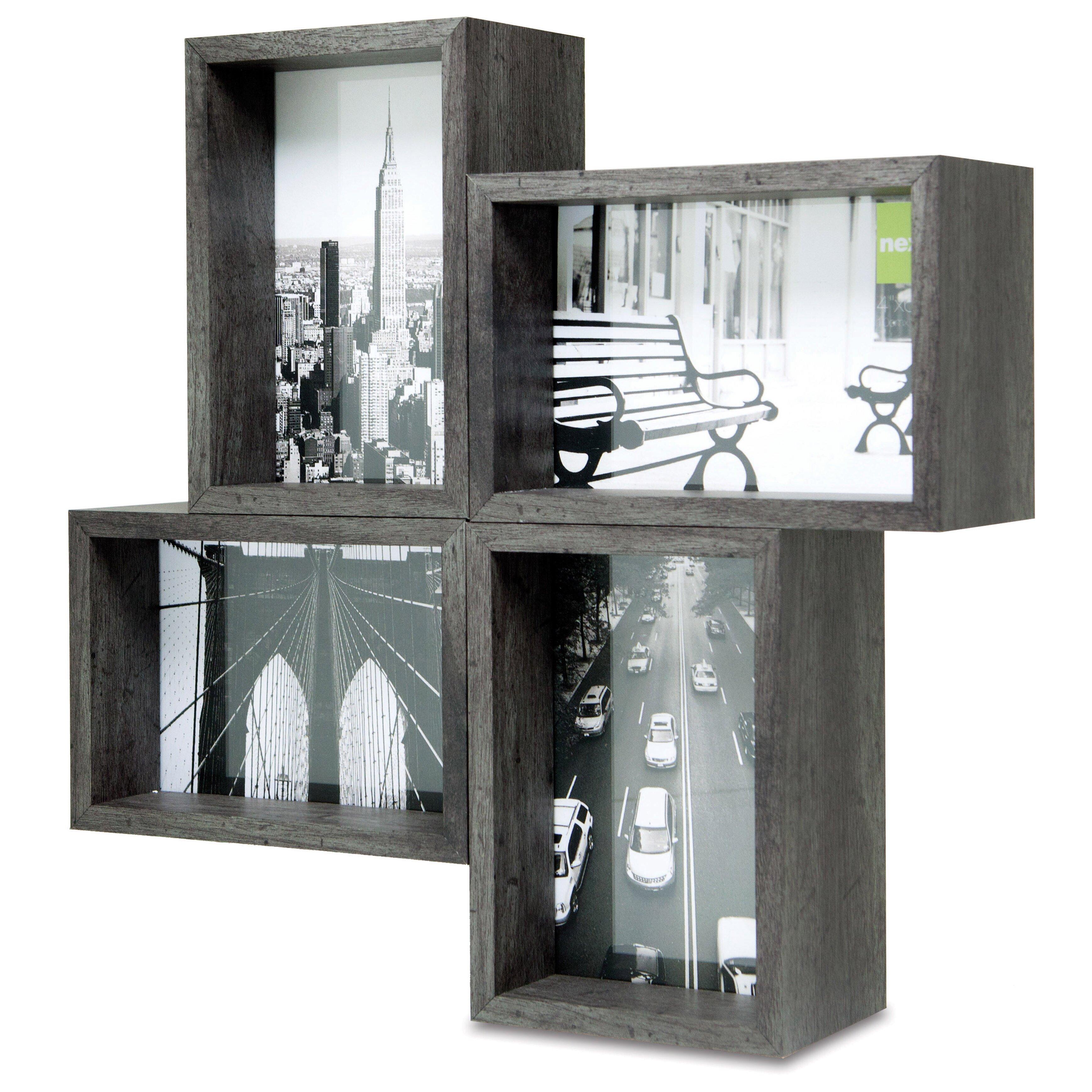 nexxt design bricks block 4 opening picture frame