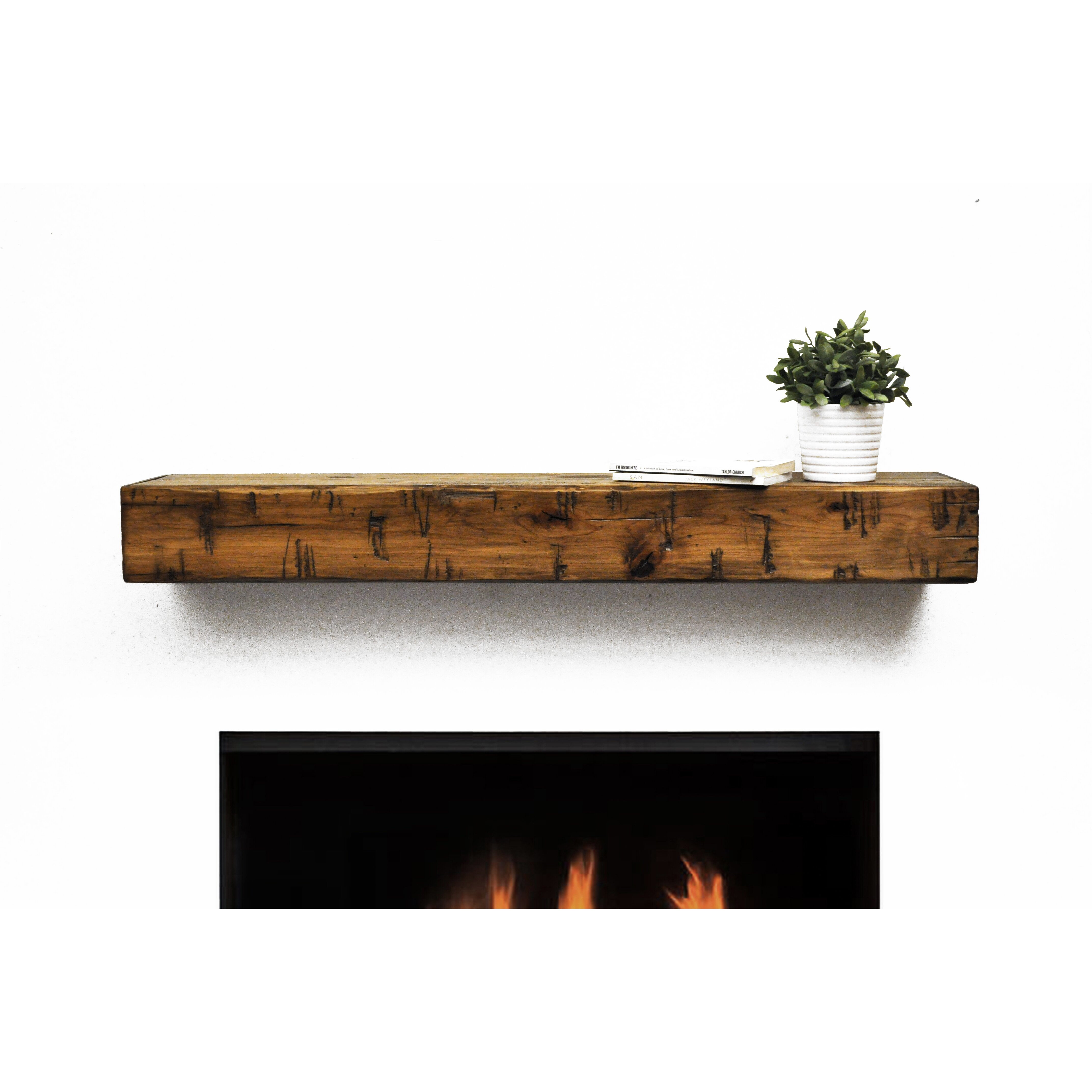Floating Farmhouse Dogberry Collections Rustic Fireplace Mantel Shelf