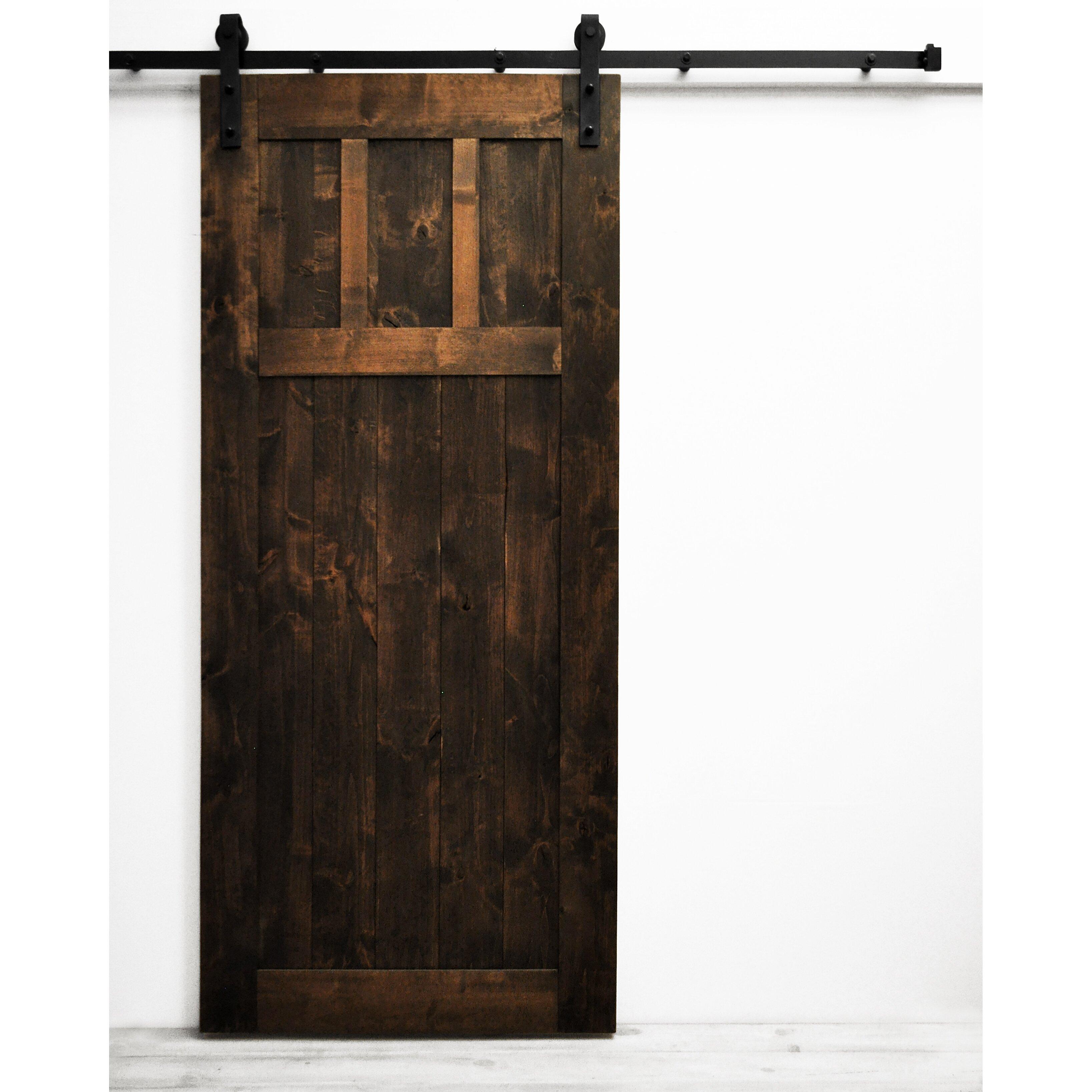 Craftsman Barn Door with Hardware. Sliding Barn Door Cabinet   Wayfair