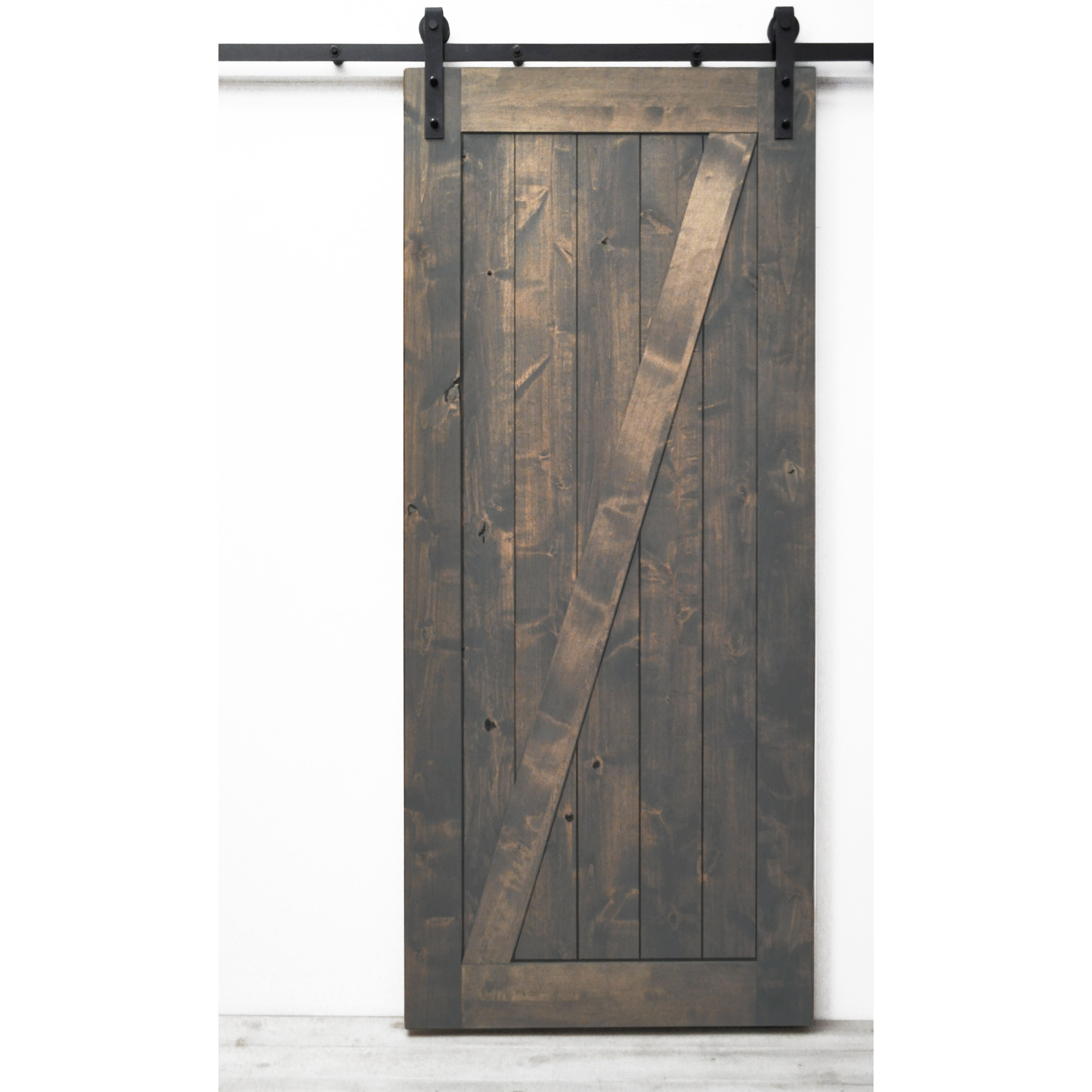 3574 #81674A Dogberry Collections Traditional Z Wood Barn Door & Reviews Wayfair picture/photo Masonite Doors Reviews 41793574