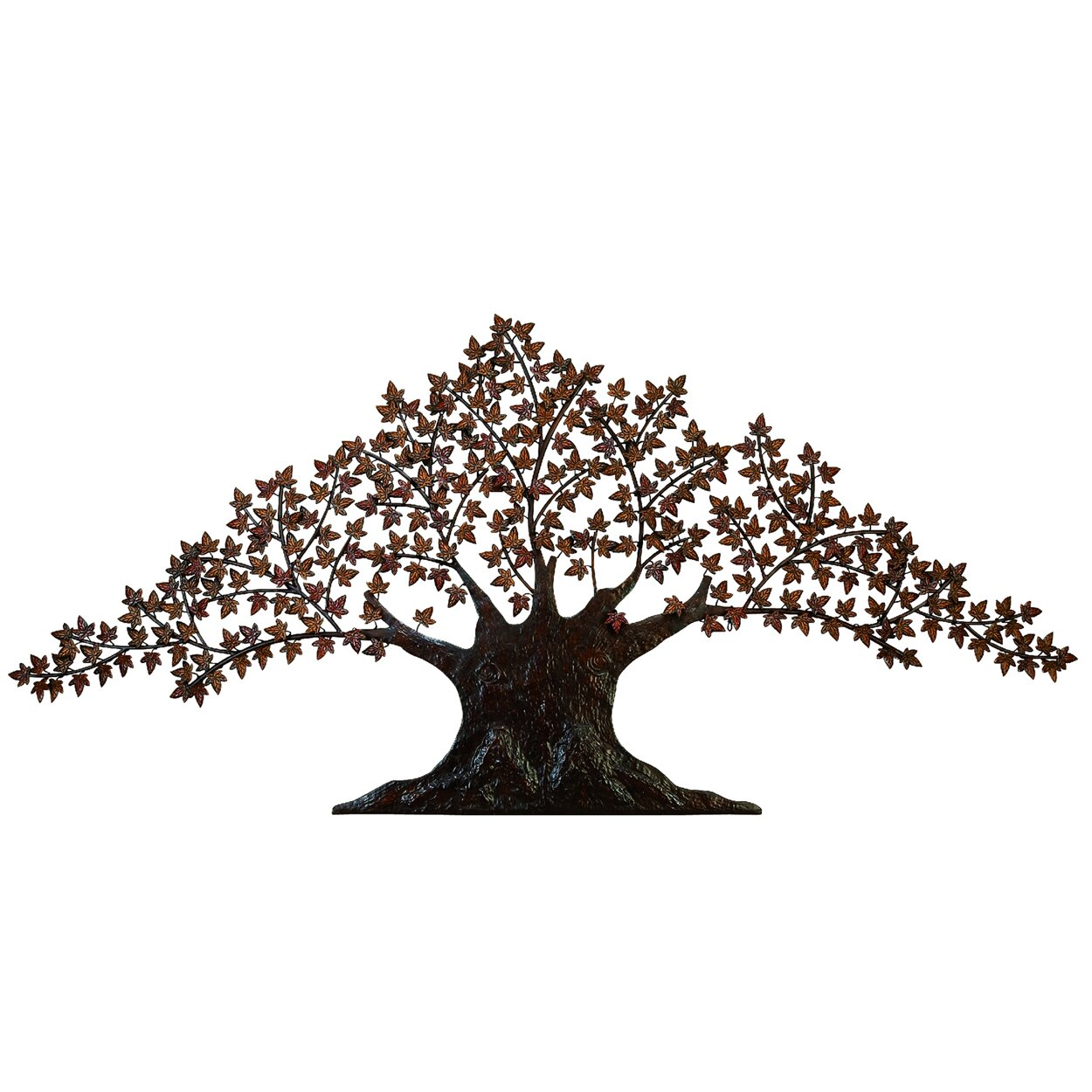 EC World Imports 84 Urban Handcrafted Tree of Life Large Metal Art  Wall Decor