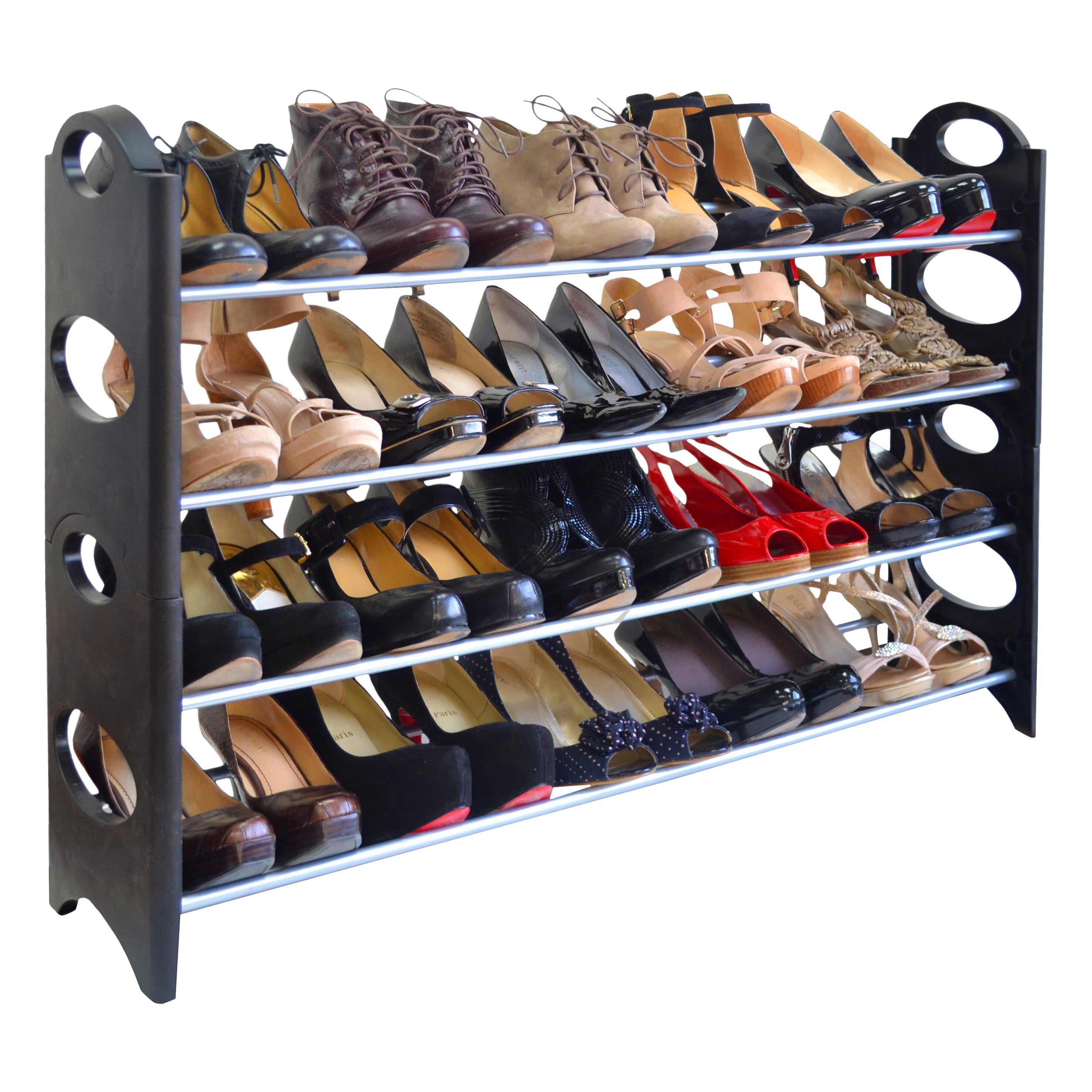 Linen Depot Direct 4-Tier Shoe Rack & Reviews | Wayfair