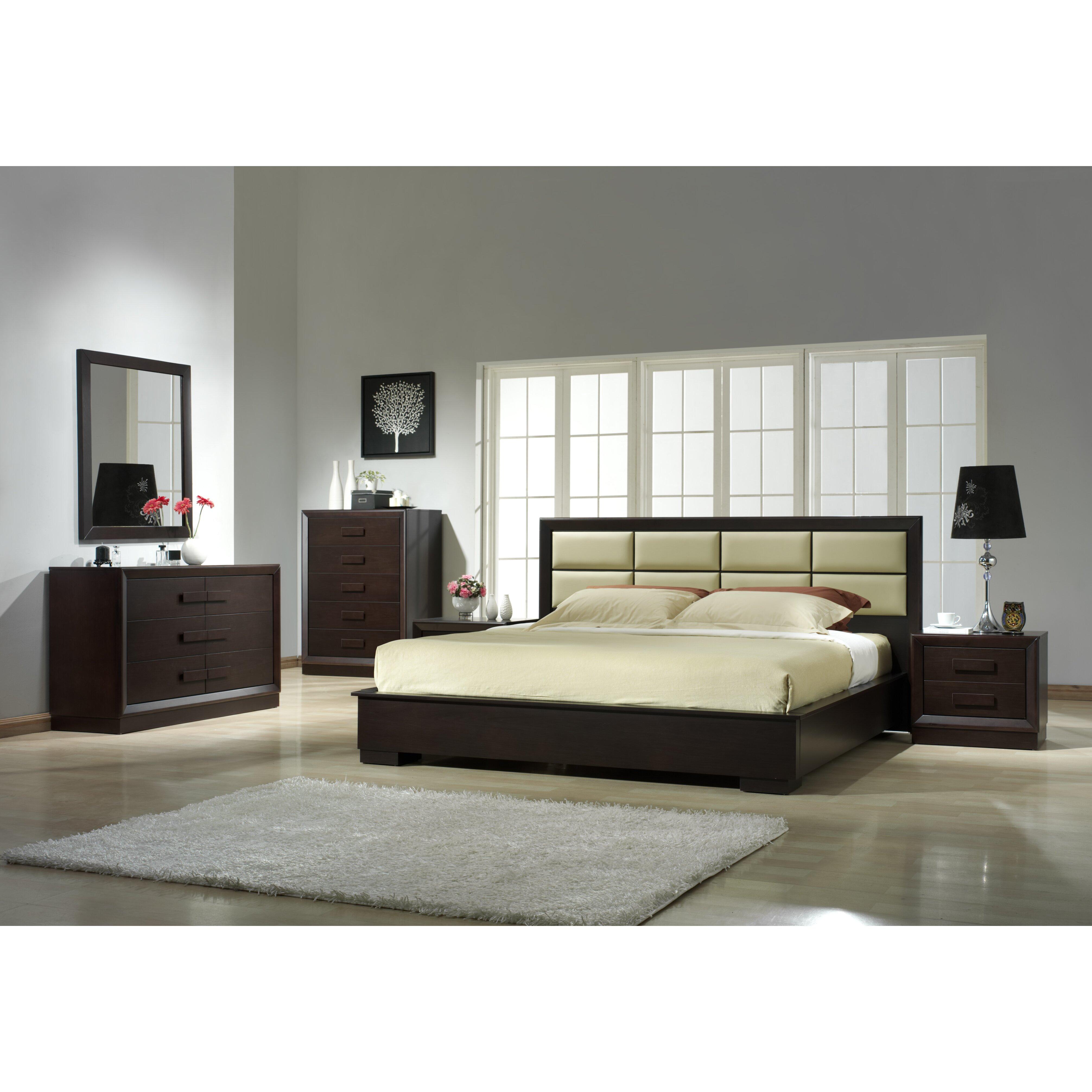 mondello 4pc set bedroom set madrid platform furniture. styleup.co