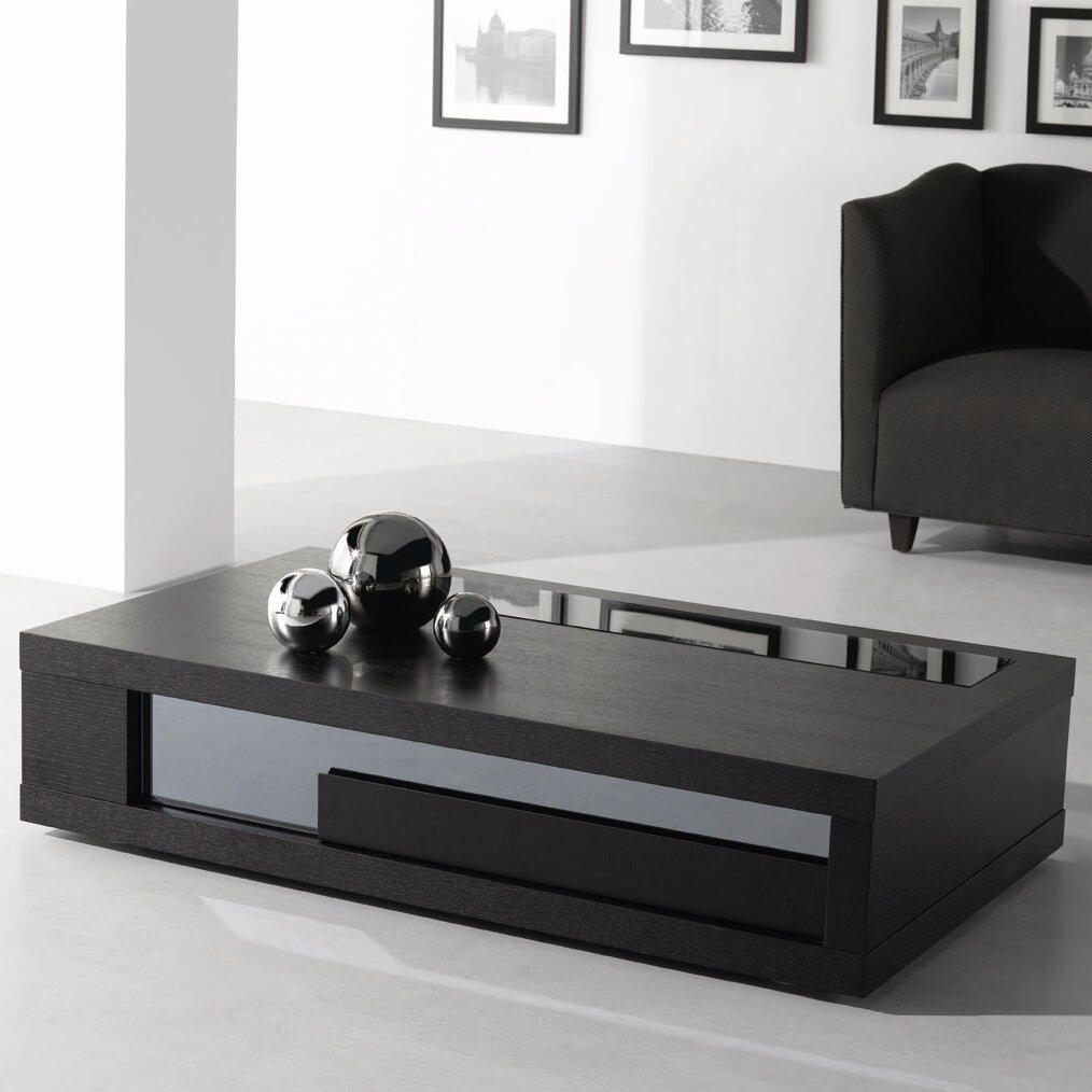 Black modern coffee table - Ju0026ampm Furniture Modern Coffee Table