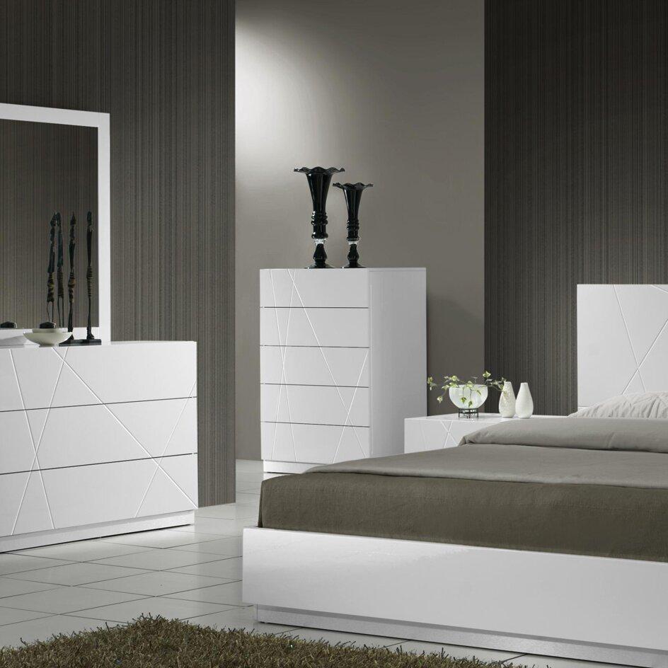 Naples Bedroom Furniture Naples 5 Drawer Chest Reviews Allmodern