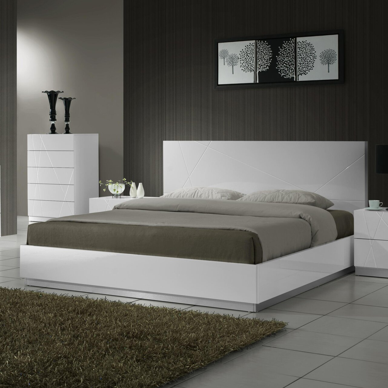 QUICK VIEW  Naples Platform Customizable Bedroom Set  by J M Furniture. Modern   Contemporary Bedroom Sets   AllModern