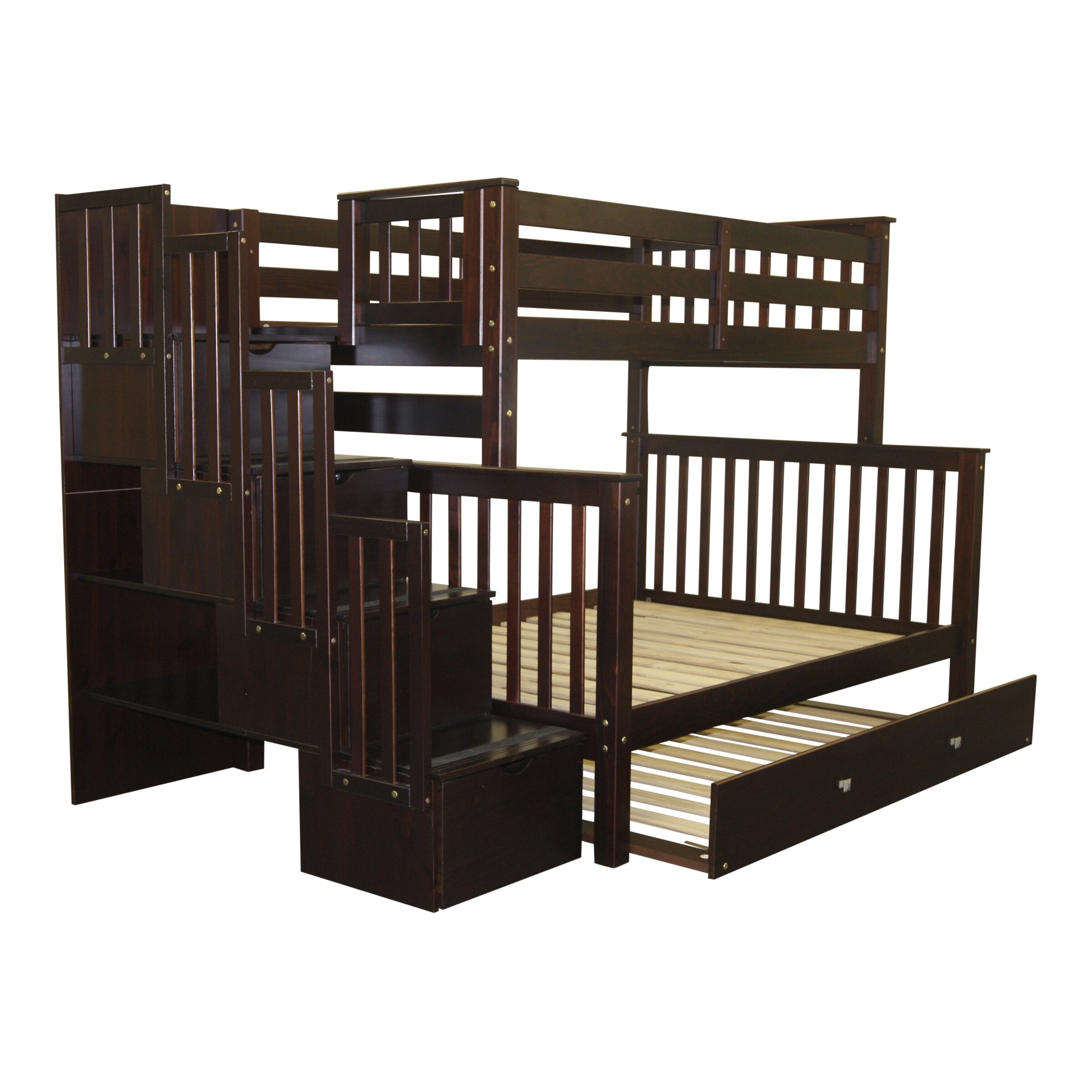 Bedz King Twin Over Full Bunk Bed With Trundle Amp Reviews