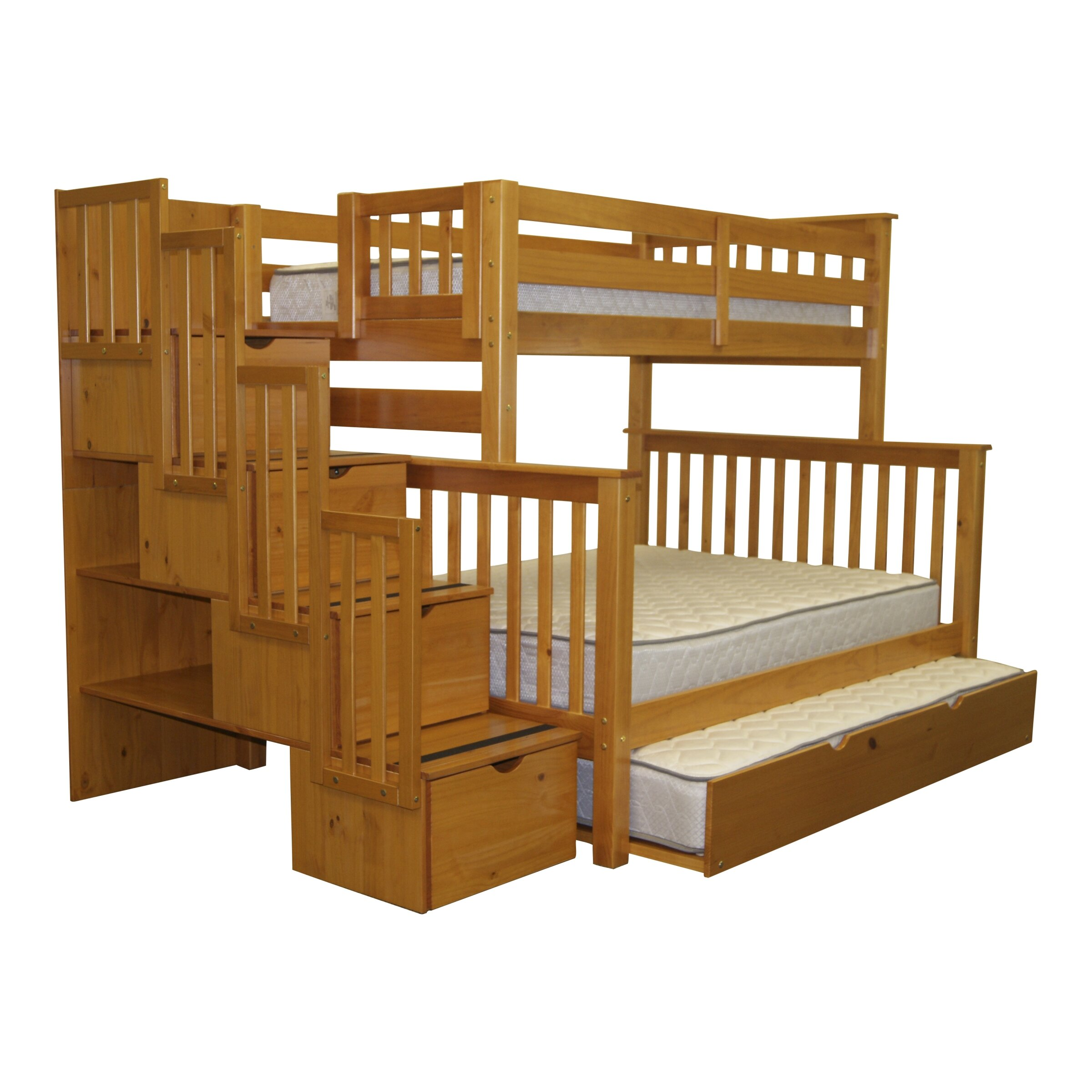 Trundle beds for adults - Twin Over Full Bunk Bed With Trundle