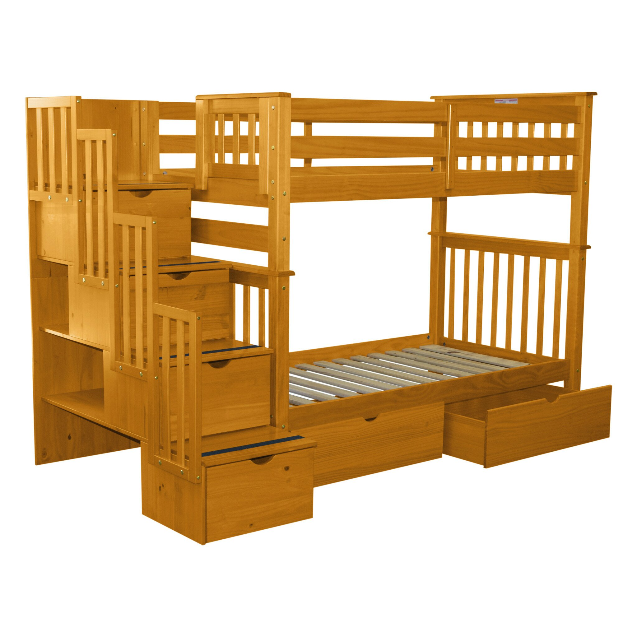 Bedz King Twin Bunk Bed with Storage & Reviews