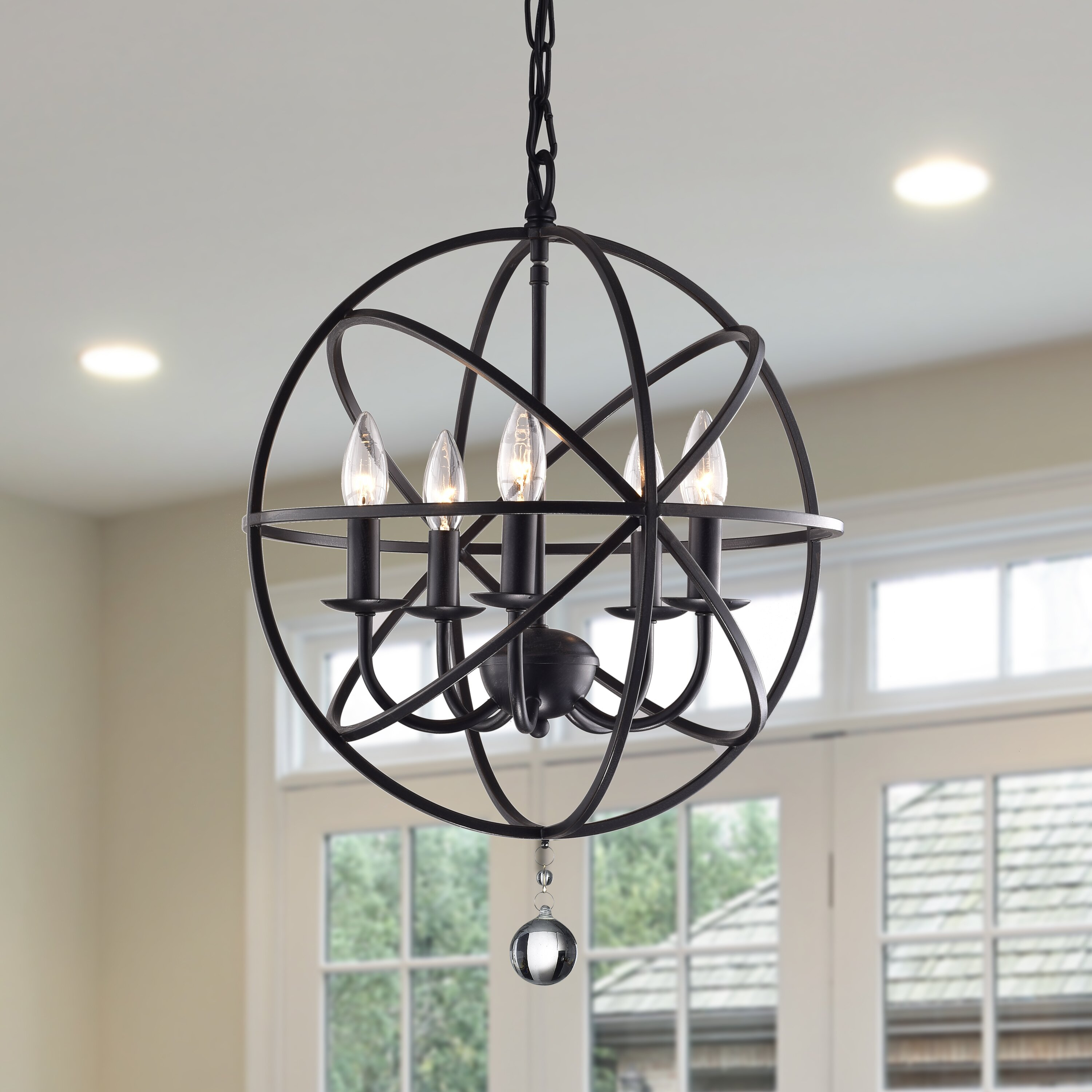 wellyer notus 5 light foyer pendant reviews wayfair. Black Bedroom Furniture Sets. Home Design Ideas