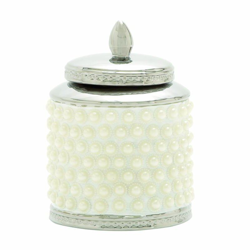 Cole grey ceramic decorative urns jars reviews for Decor containers coles