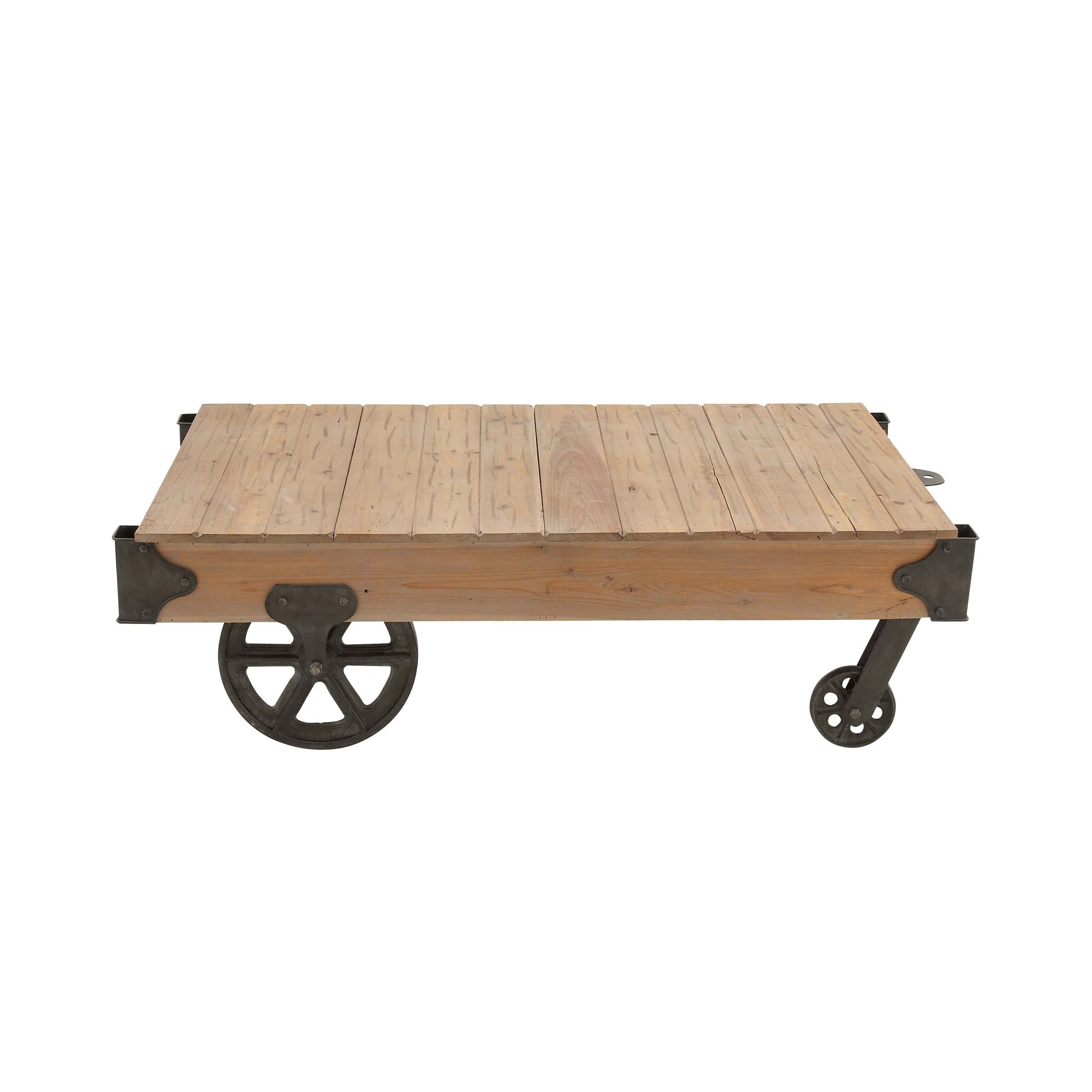 Mill Cart Coffee Table Cole Grey Loft Wood Utility Cart Coffee Table Reviews Wayfair