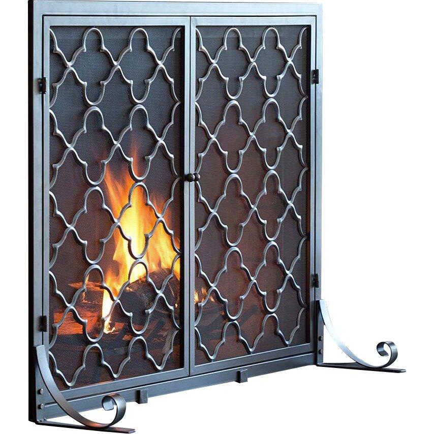 Plow & Hearth Single Panel Geometric Fireplace Screen - Plow & Hearth Single Panel Geometric Fireplace Screen & Reviews