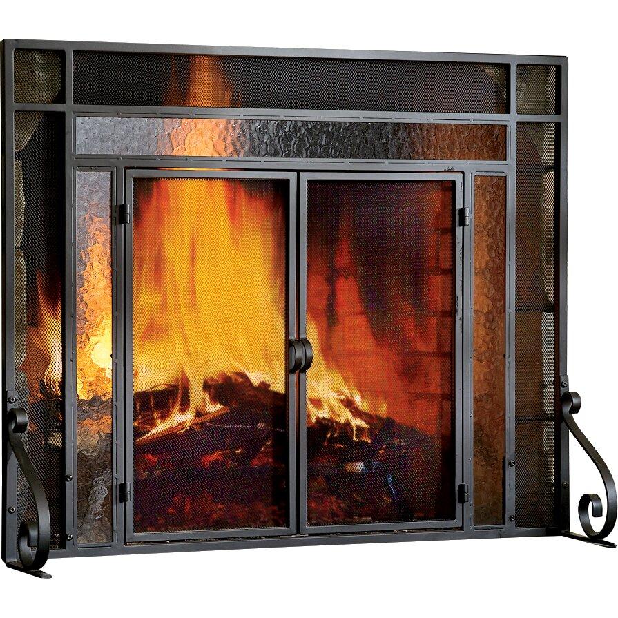 Plow & Hearth 2 Panel Steel Fireplace Screen - Plow & Hearth 2 Panel Steel Fireplace Screen & Reviews Wayfair