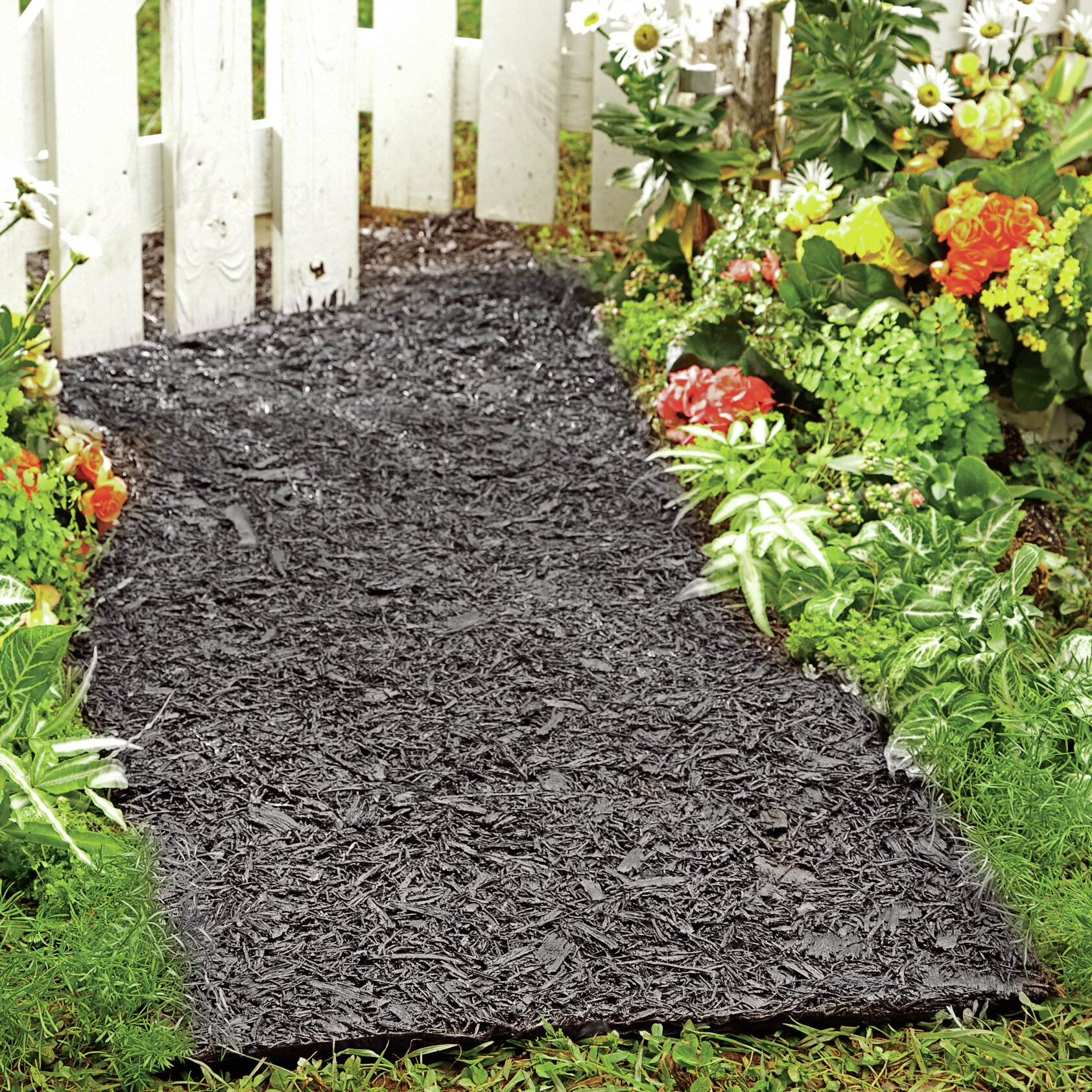 Plow Amp Hearth Environmentally Friendly Perma Mulch Pathway