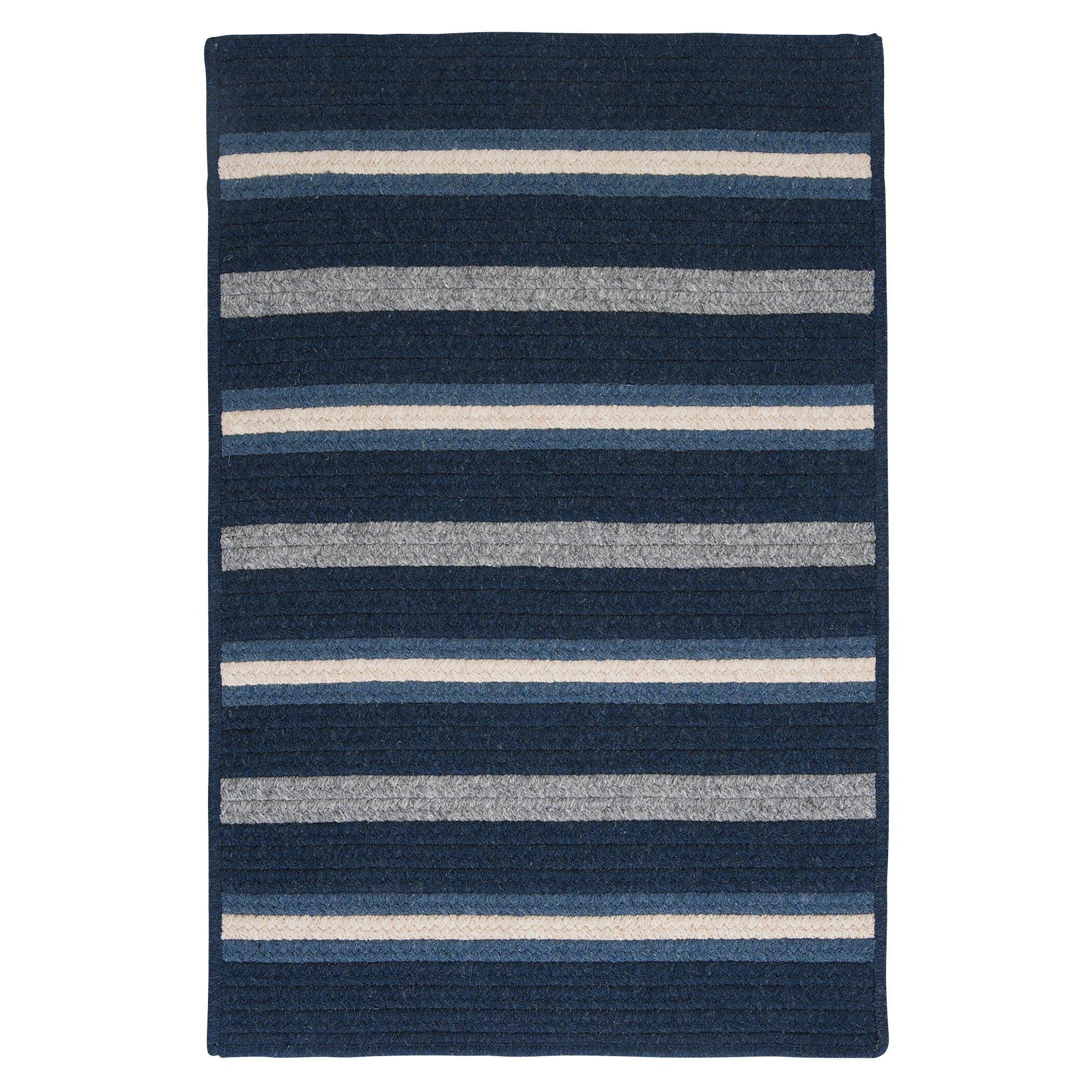 Blue Striped Area Rug Home Decor
