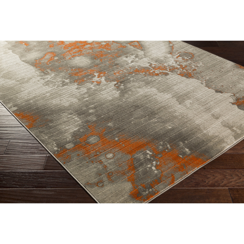 Trent Austin Designu0026reg; Chartwell Light Gray/Burnt Orange Area Rug