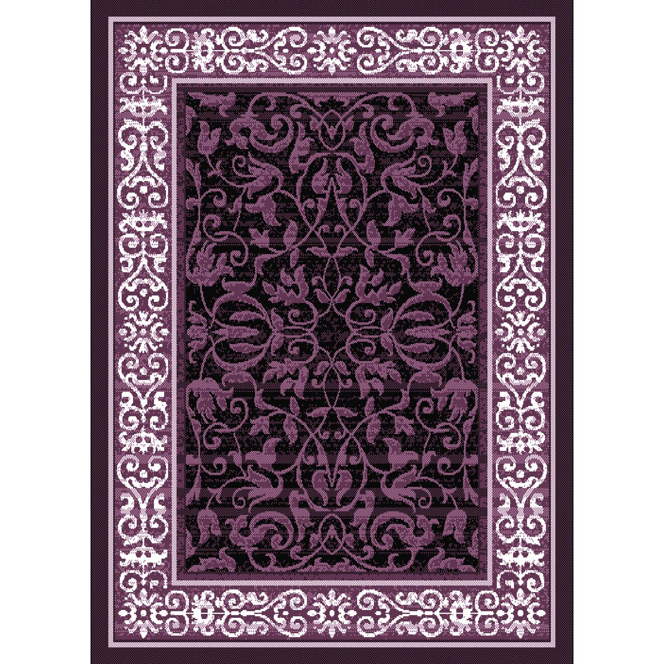 Dallas Baroness Plum Area Rug. By United Weavers Of America. Product