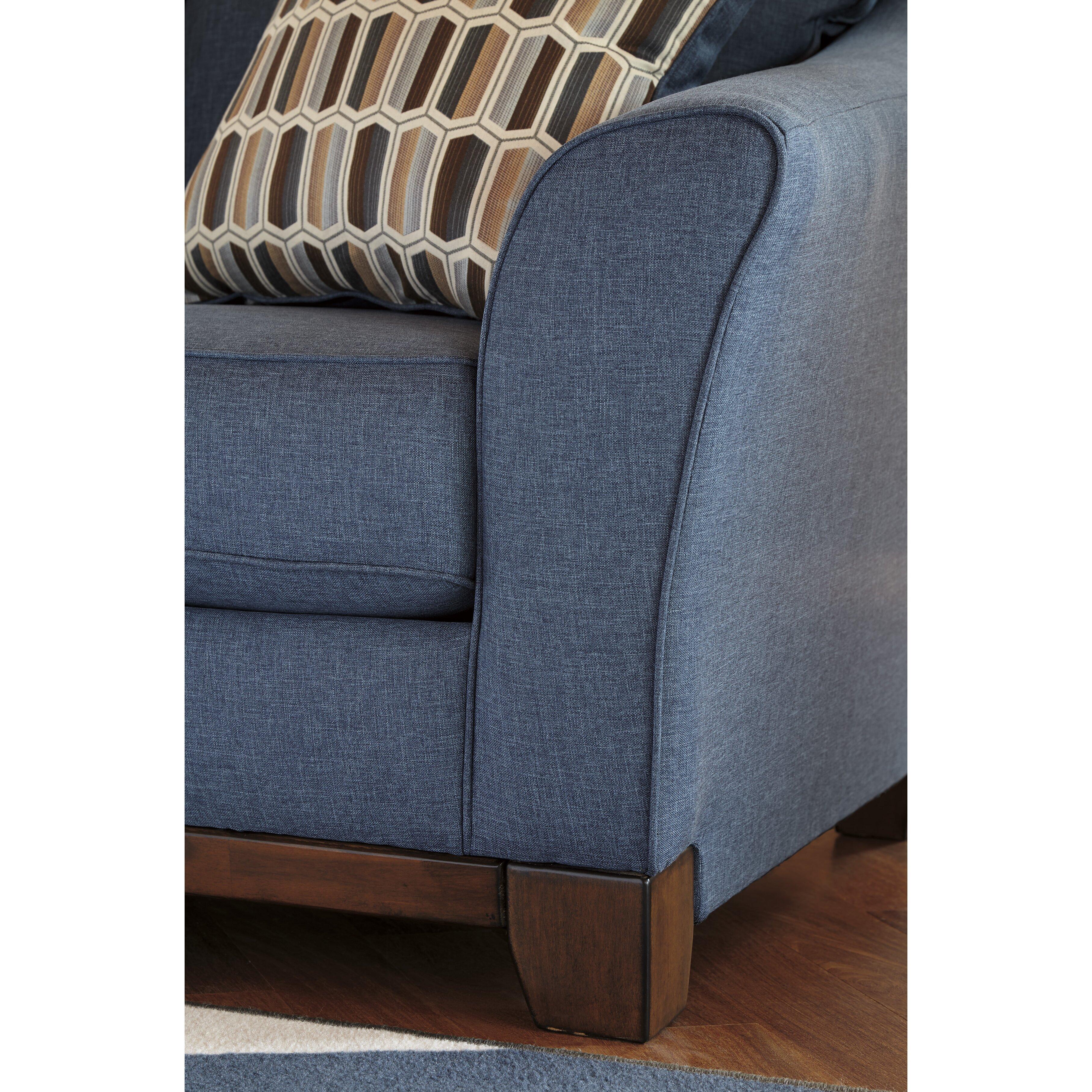 Benchcraft Janley Denim Sofa Amp Reviews Wayfair
