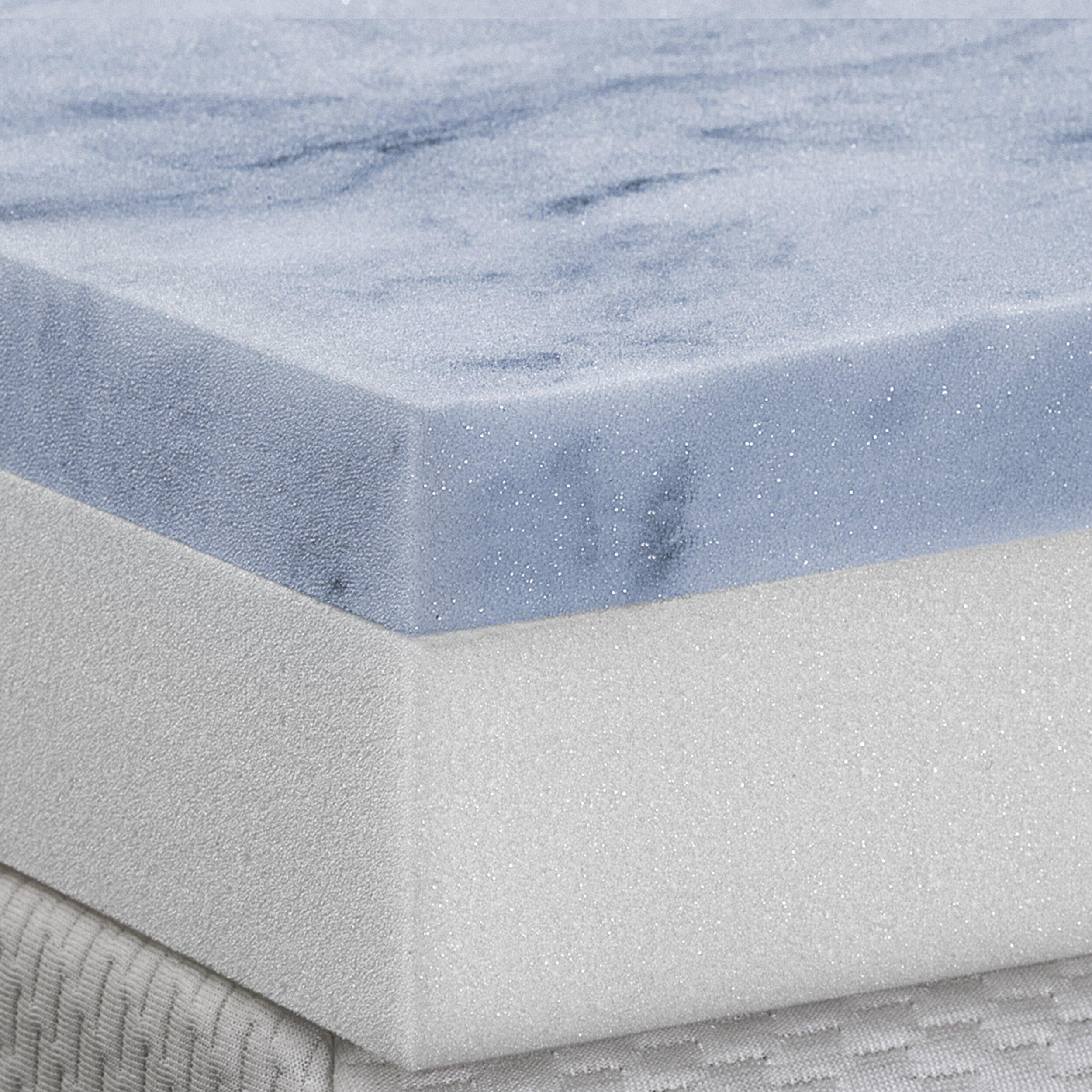 "Serta Gel Memory Foam Mattress Topper Reviews Serenia Sleep 4"" Gel Memory Foam Mattress Topper & Reviews | Wayfair"