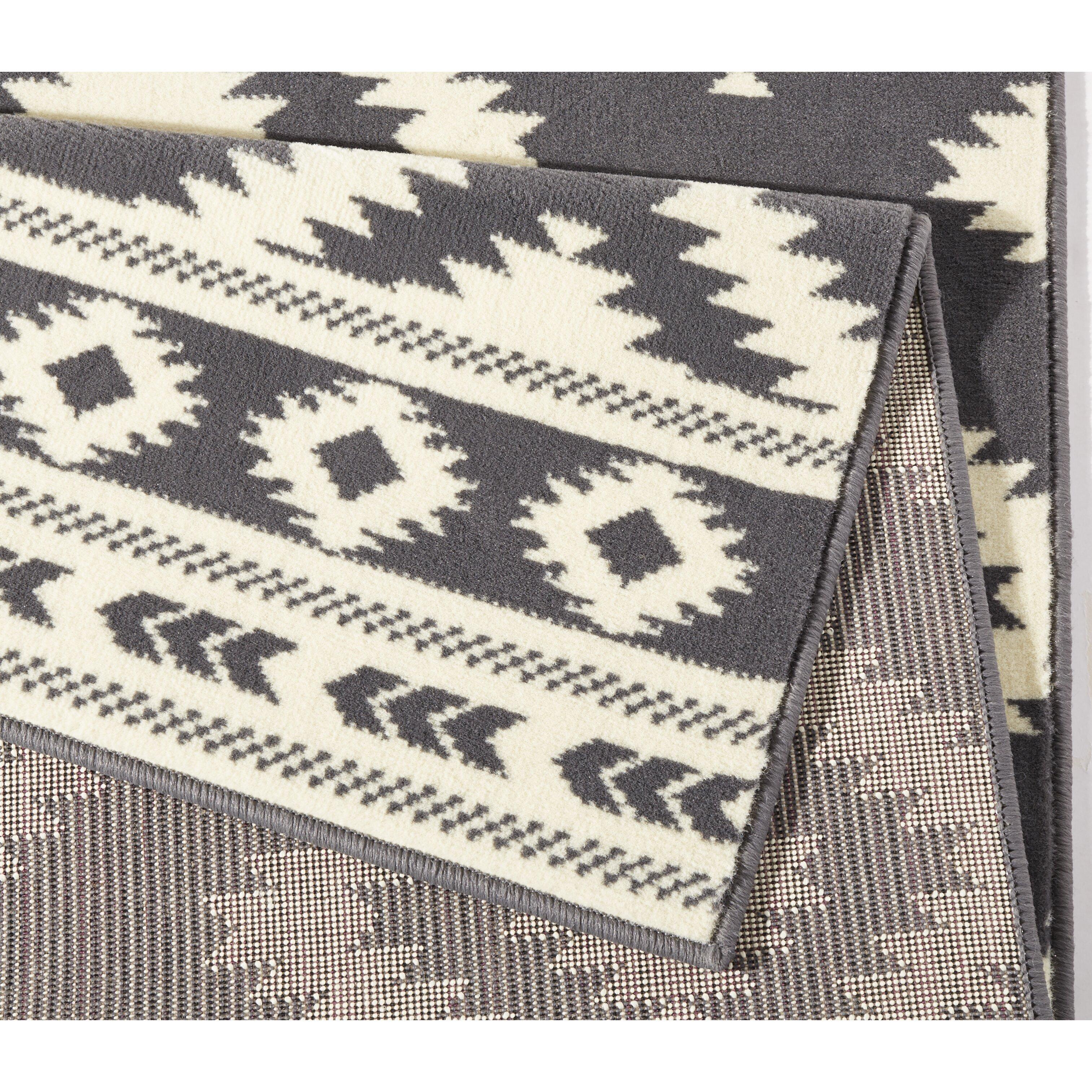 hanse home teppich ethno in grau creme. Black Bedroom Furniture Sets. Home Design Ideas