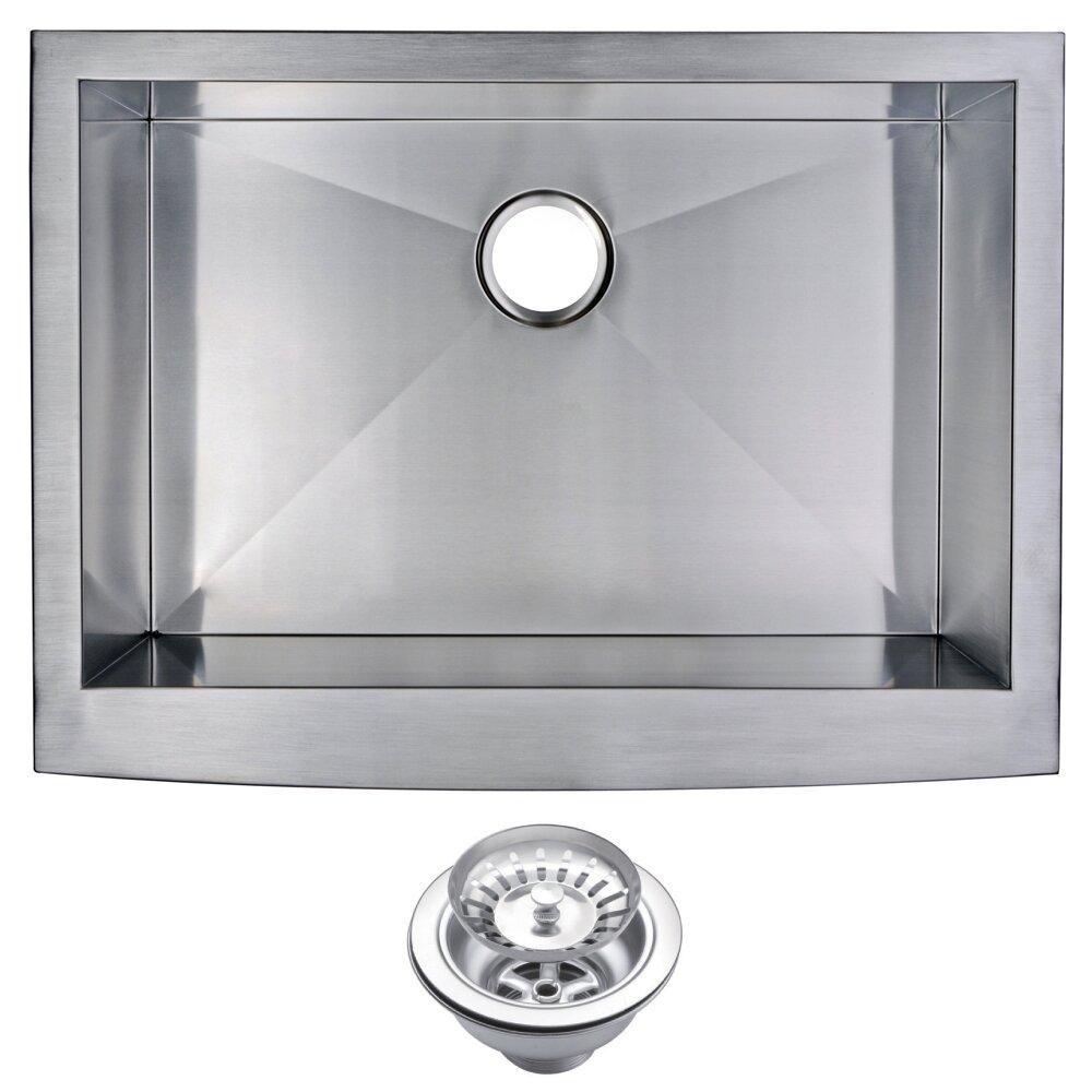 brier single bowl kitchen sink  reviews  allmodern - dcor design brier single bowl kitchen sink