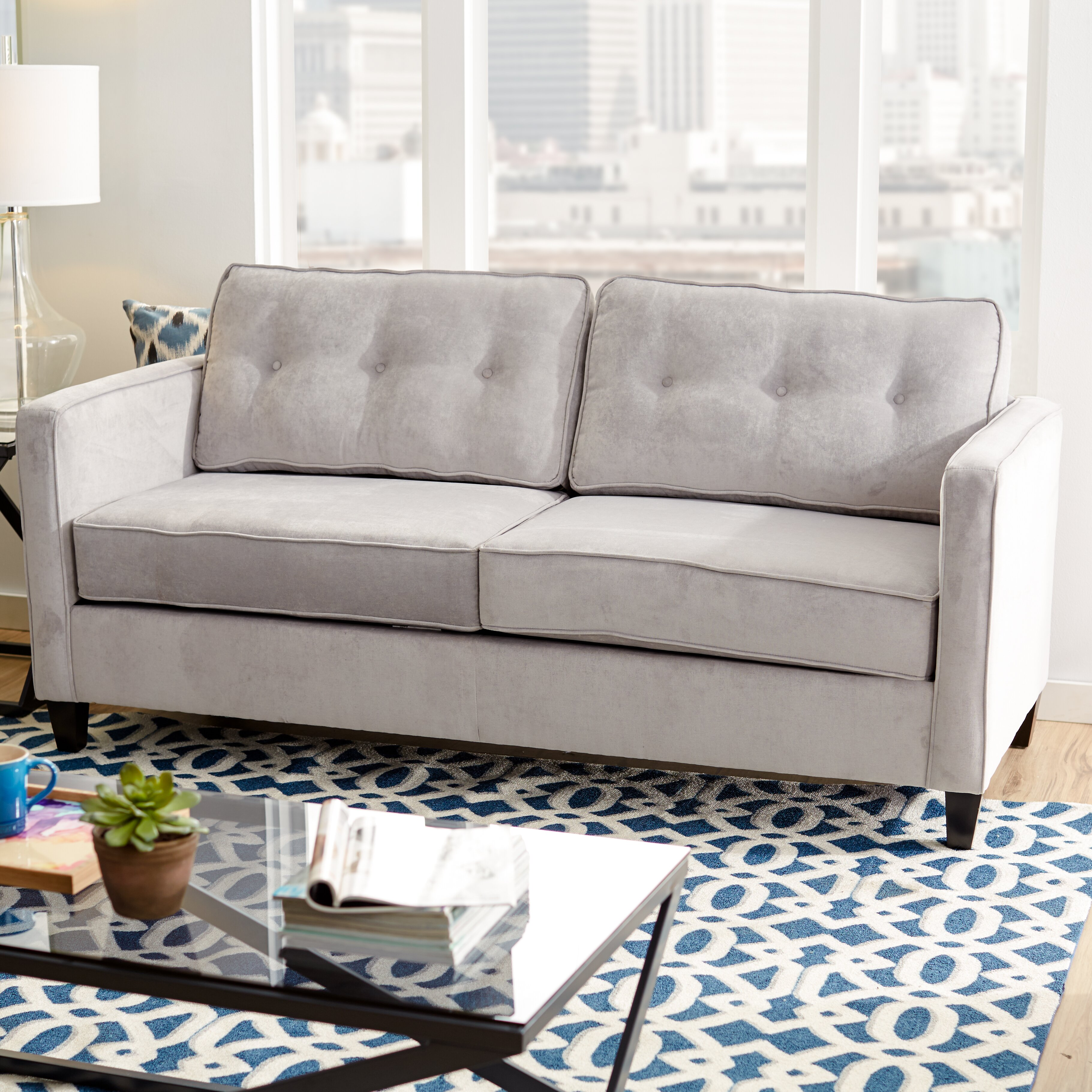 Mercury row serta upholstery cypress sofa
