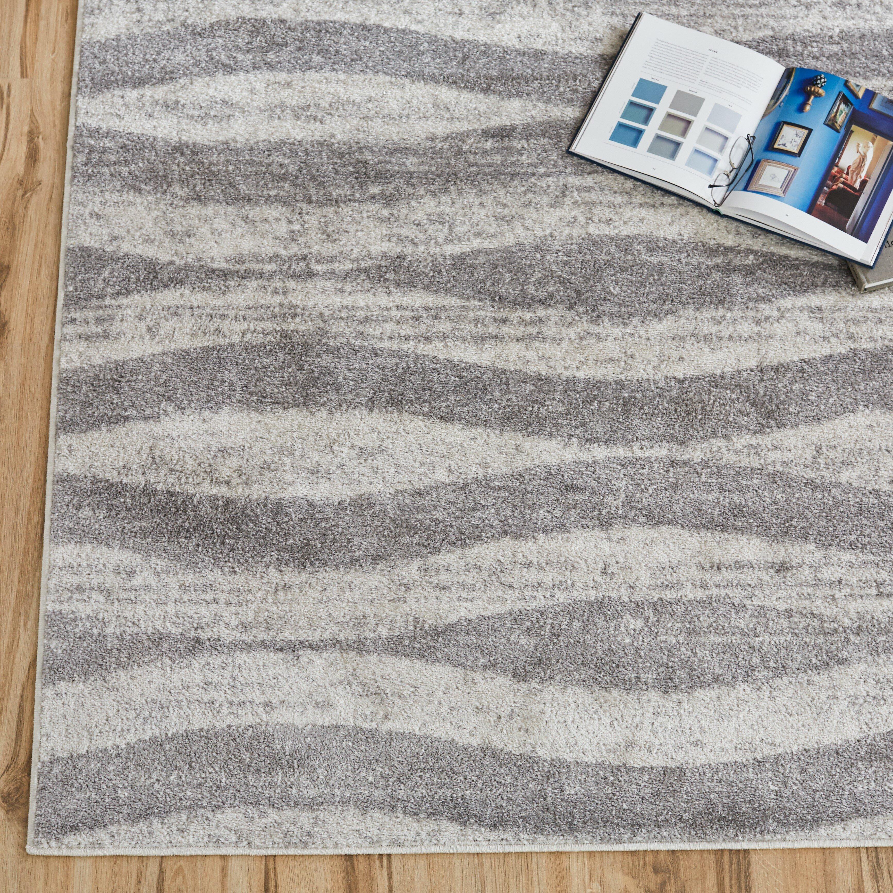 Area Rugs 5x7 Grey Gray Shag Rug Wooden Floor Shaggy Gray