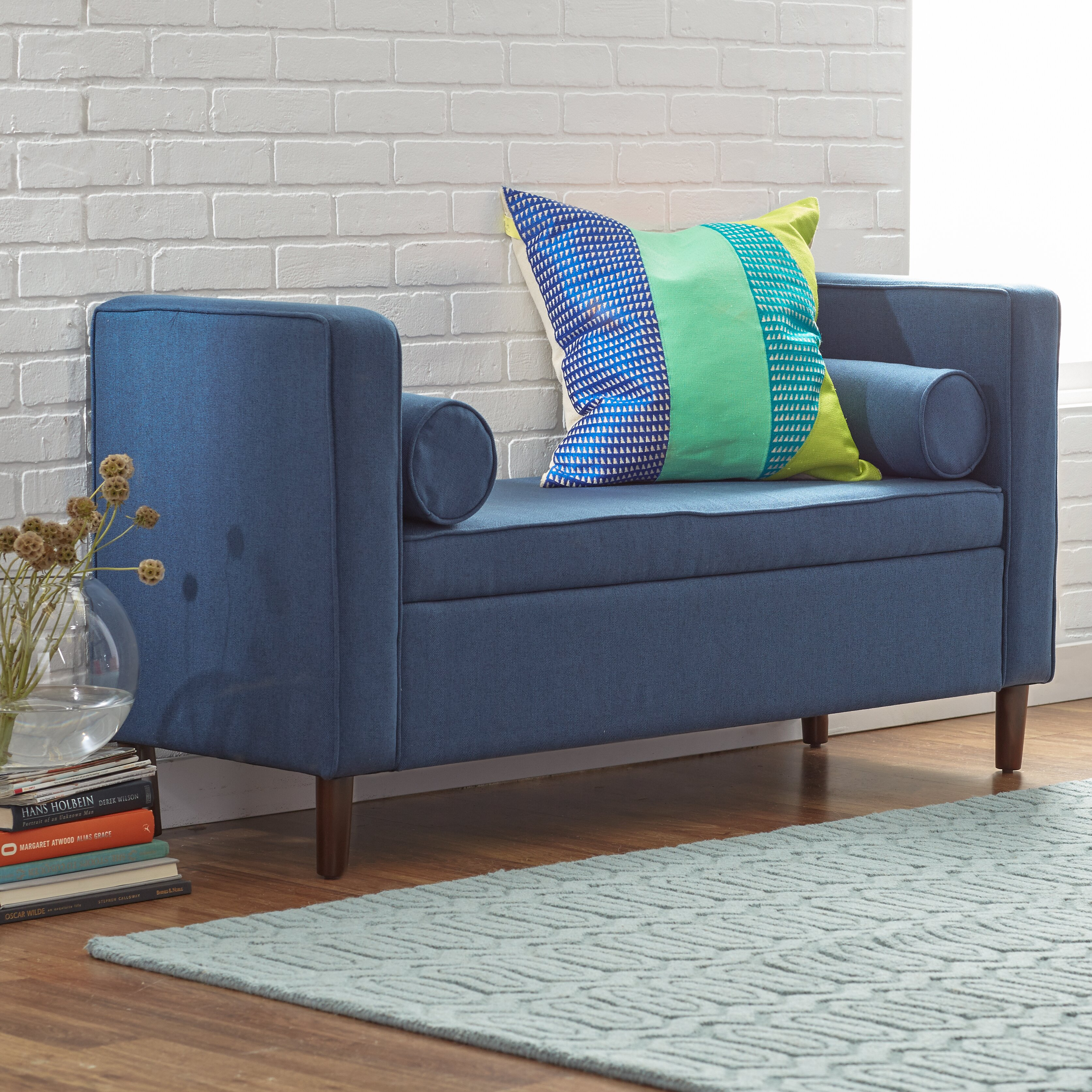 Mercury Row Rimo Upholstered Storage Bench & Reviews