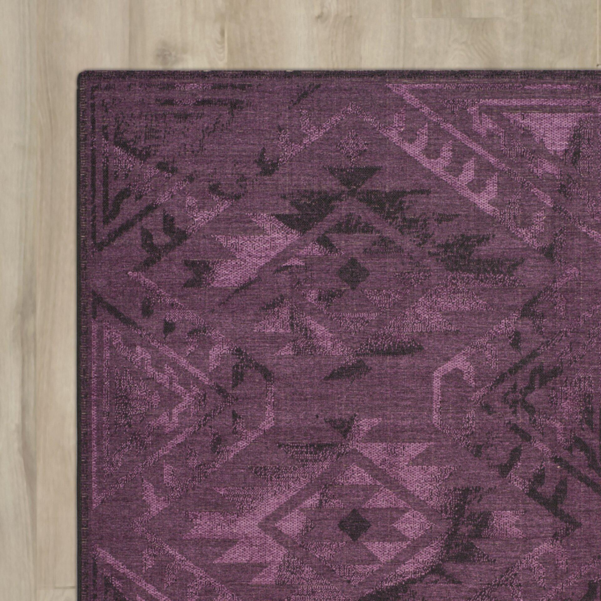 Mercury Row Circinus Machine Woven Purple Area Rug Reviews Wayfair