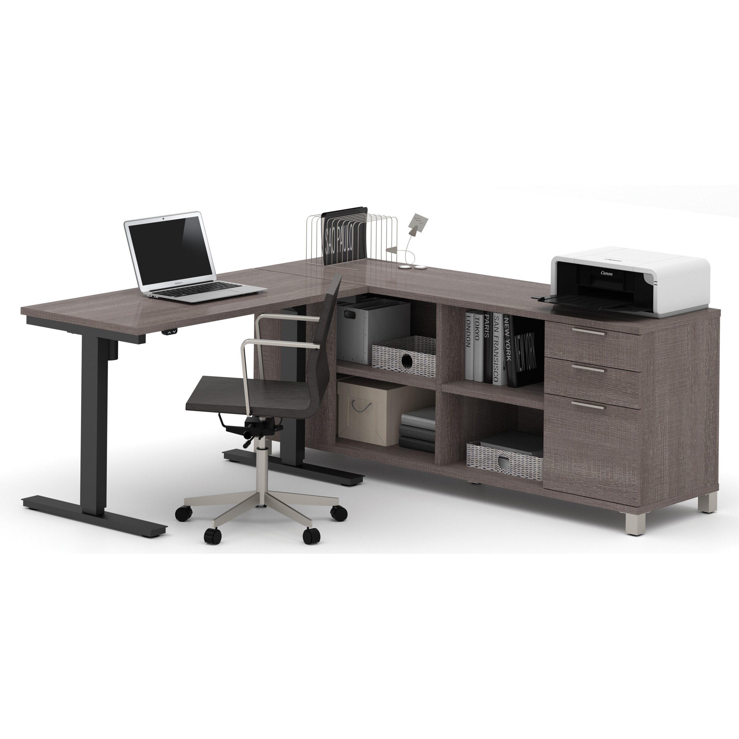 Mercury Row Ariana L Shape Desk Office Suite & Reviews Wayfair. Full resolution  photograph, nominally Width 2487 Height 2487 pixels, photograph with #5F5753.