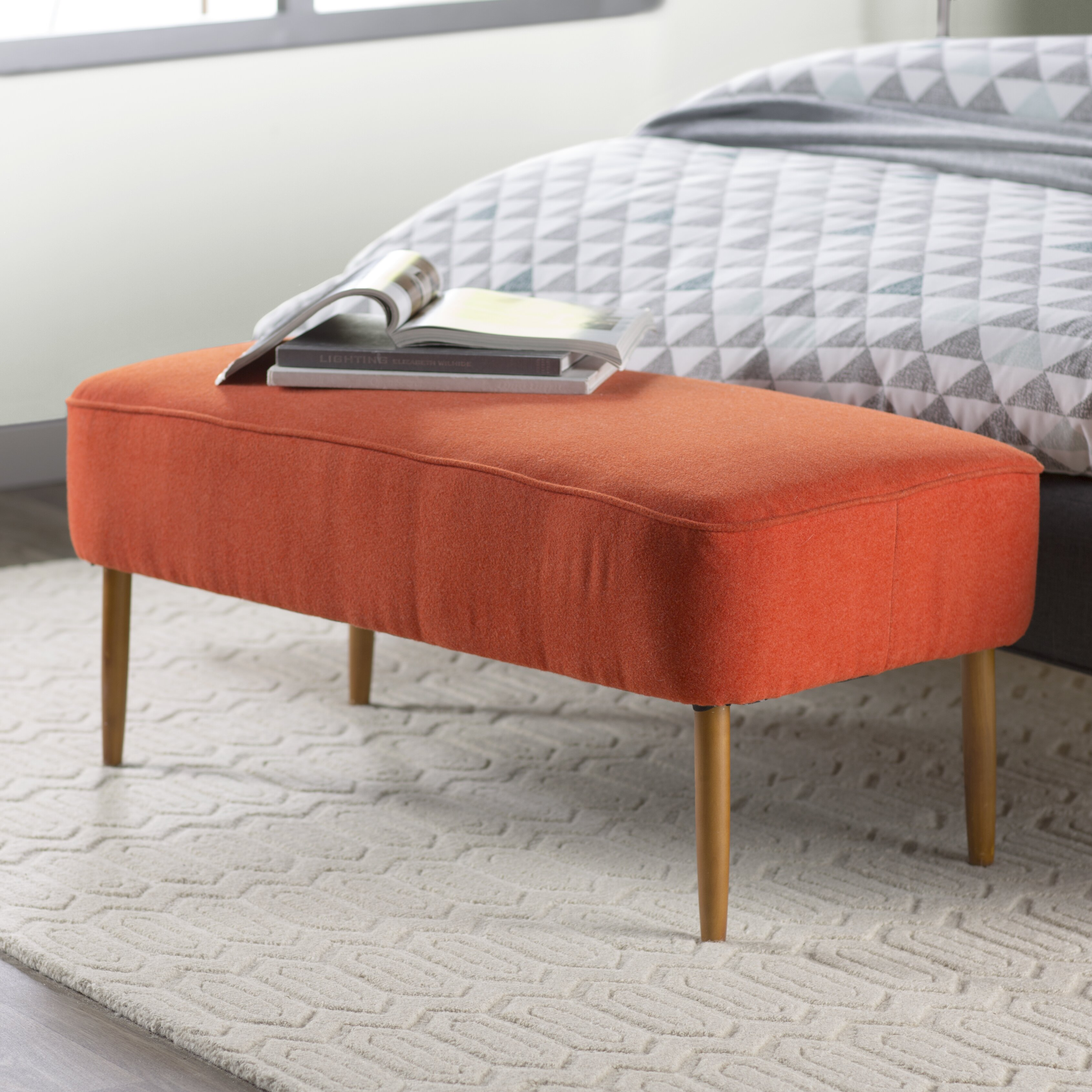 Jenna Upholstered Bench & Reviews