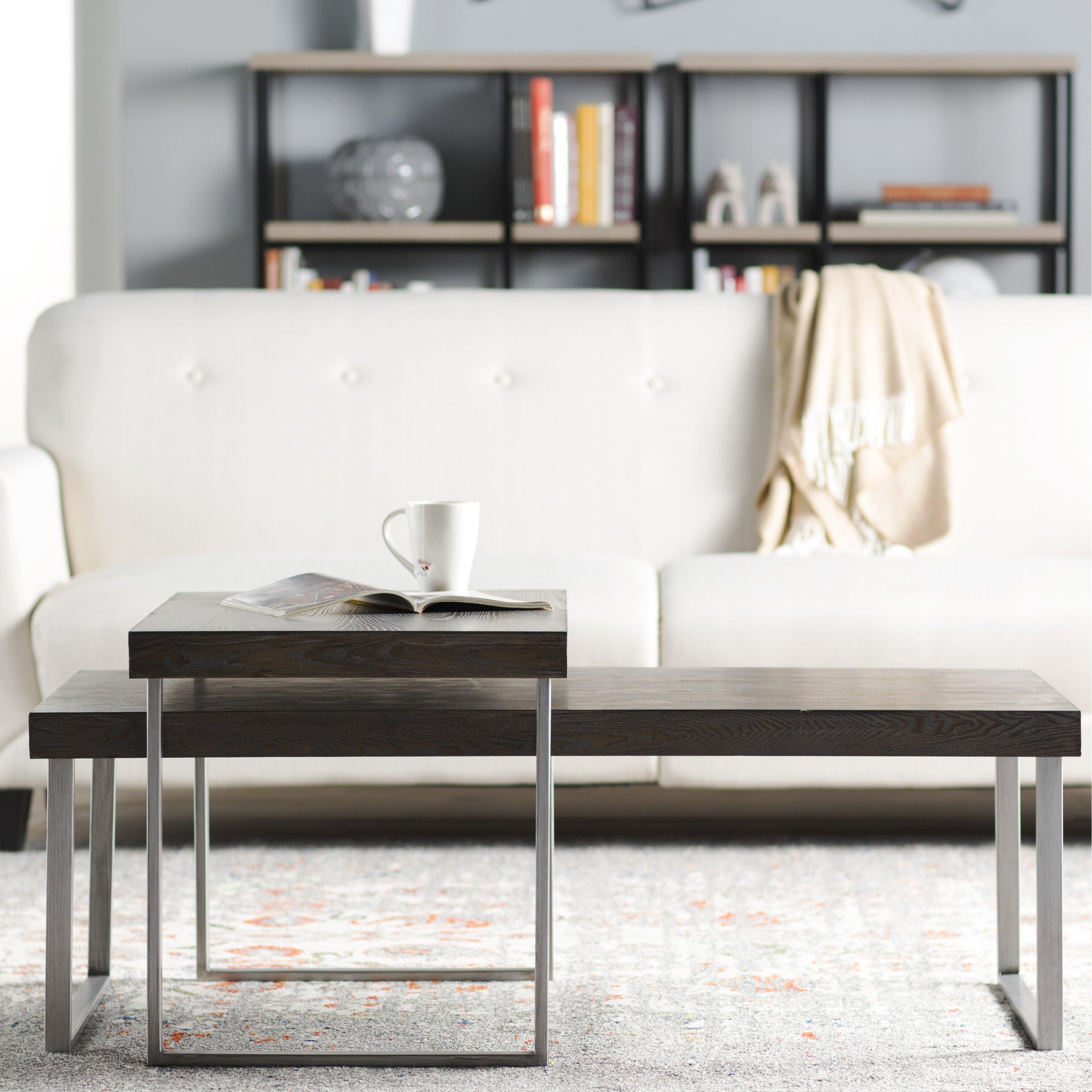 mercury row asine 2 piece nested coffee table set reviews wa