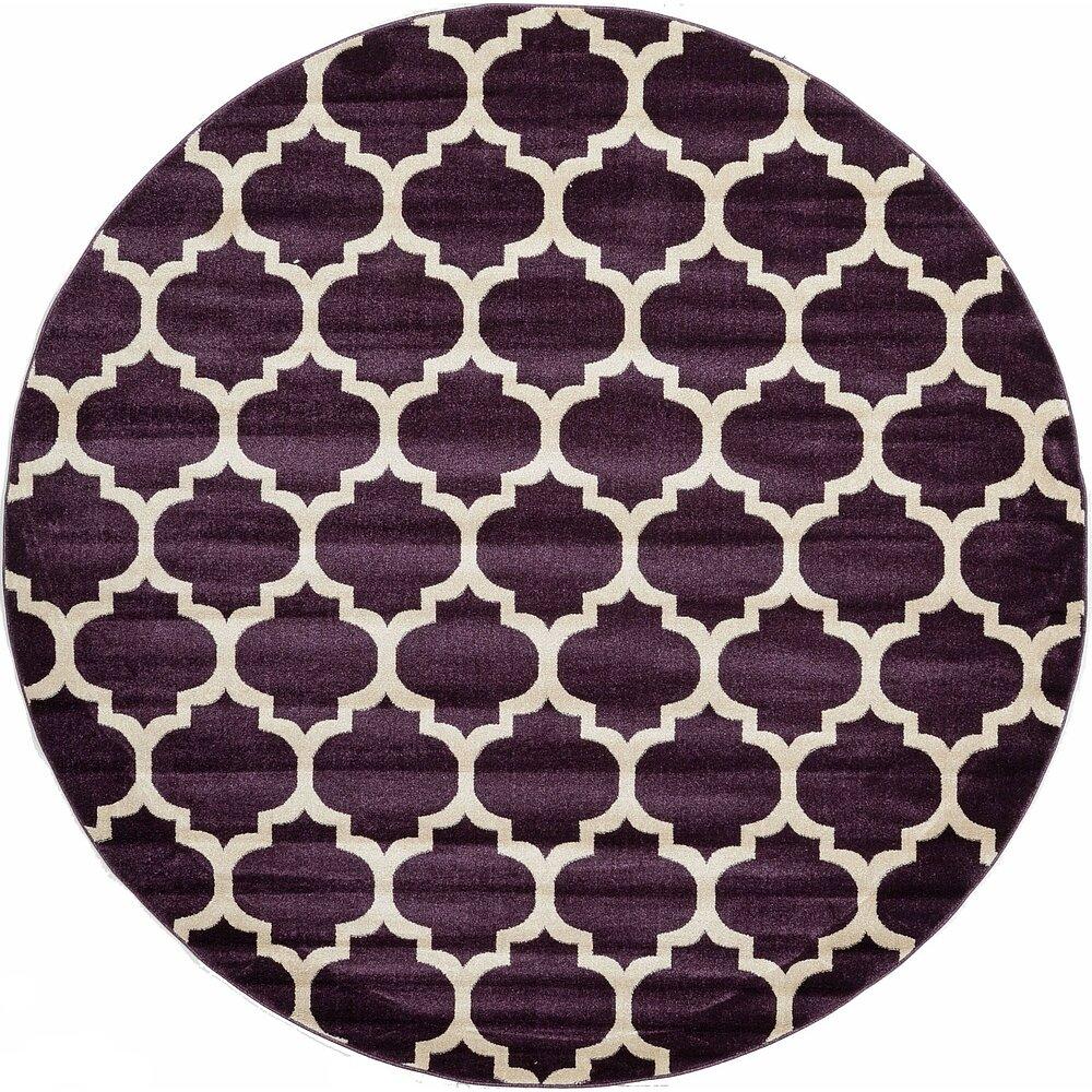 Mercury Row Cranston Purple Area Rug Reviews
