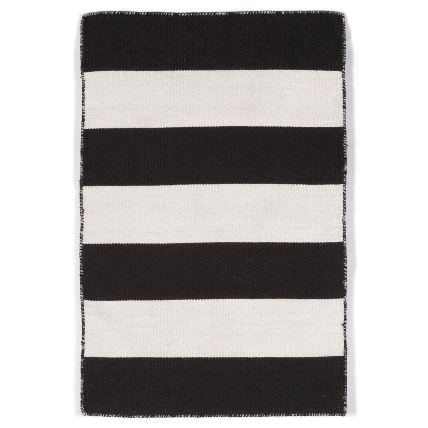 Indoor Outdoor Rugs Black And White: Buske Hand-Woven Black/White Indoor/Outdoor Area Rug