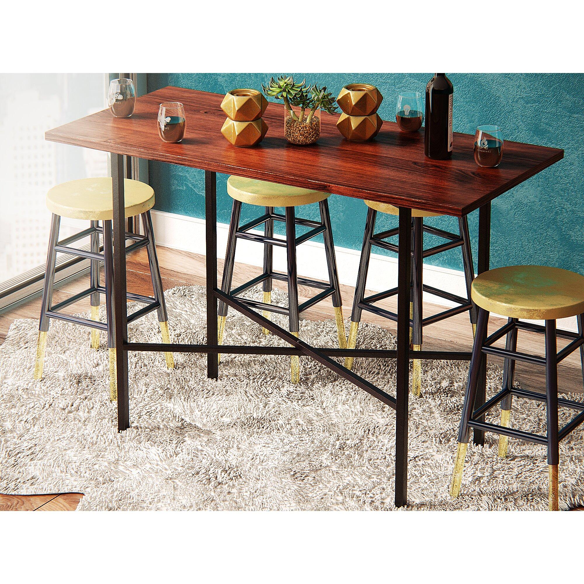 mercury row xenia counter height pub table reviews wayfair f