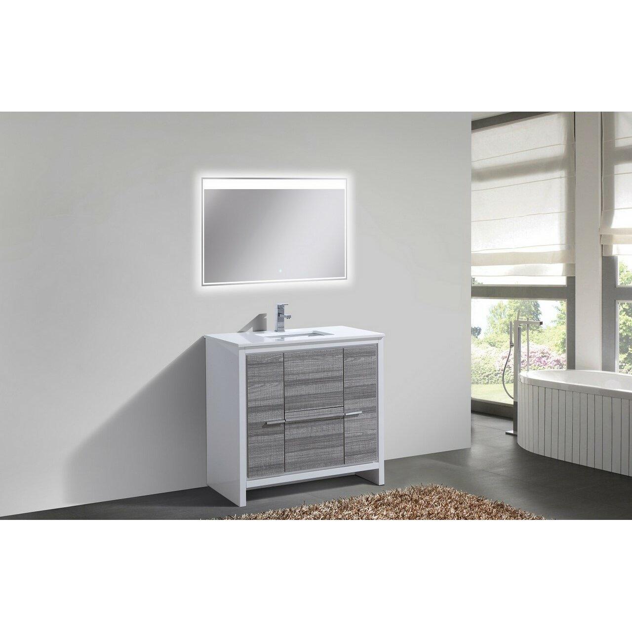 Modern Bathroom Vanity Mercury Row Bosley 36 Modern Bathroom Vanity Reviews Wayfair