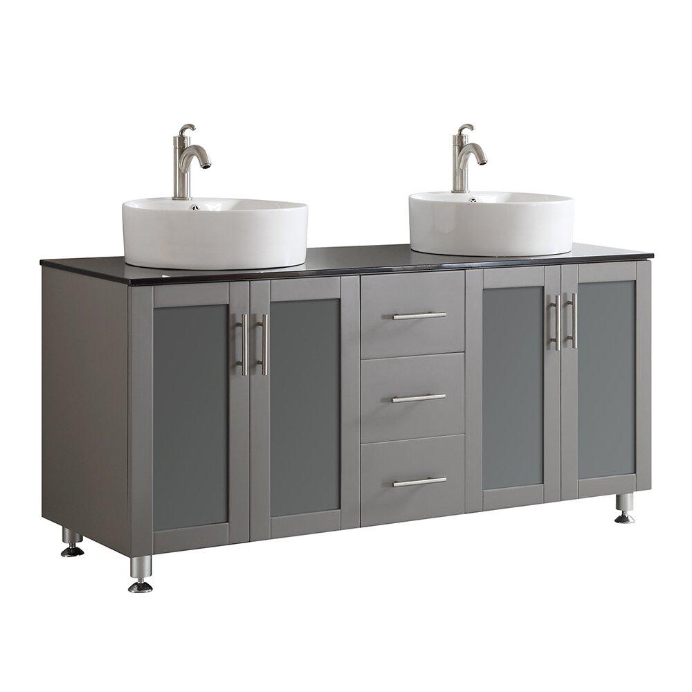 Ada Compliant Bathroom Vanity Toscano 60 Double Bathroom Vanity Reviews Joss Main